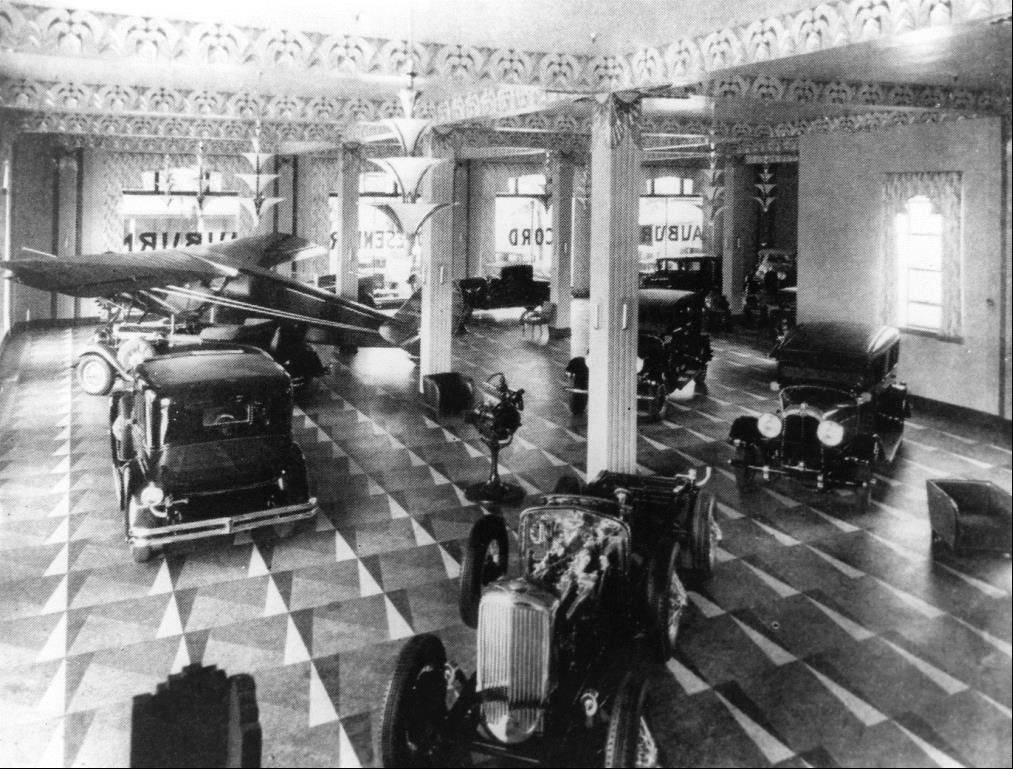 The museum is housed in the former headquarters and design studios of the Auburn Automobile Co.