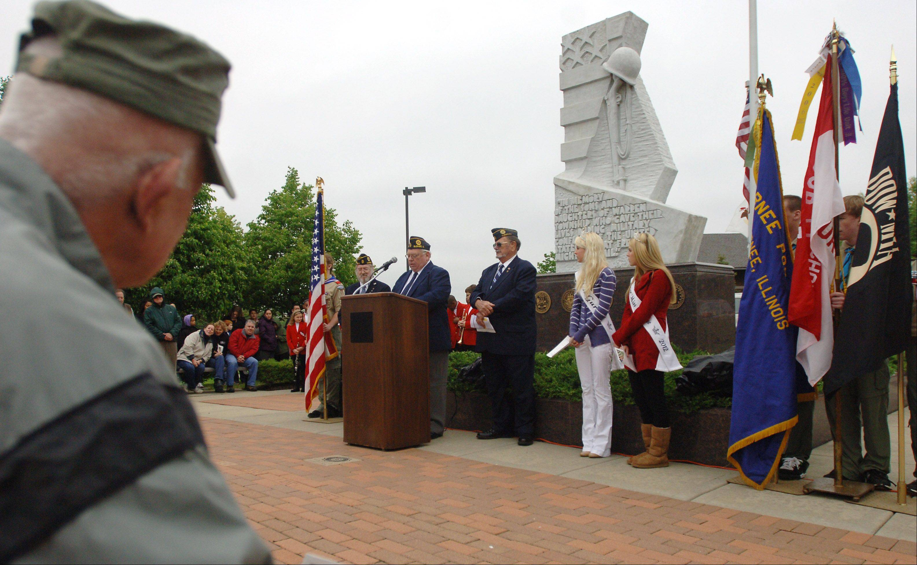 Gurnee held its Memorial Day ceremony at Veterans Memorial Park Monday.