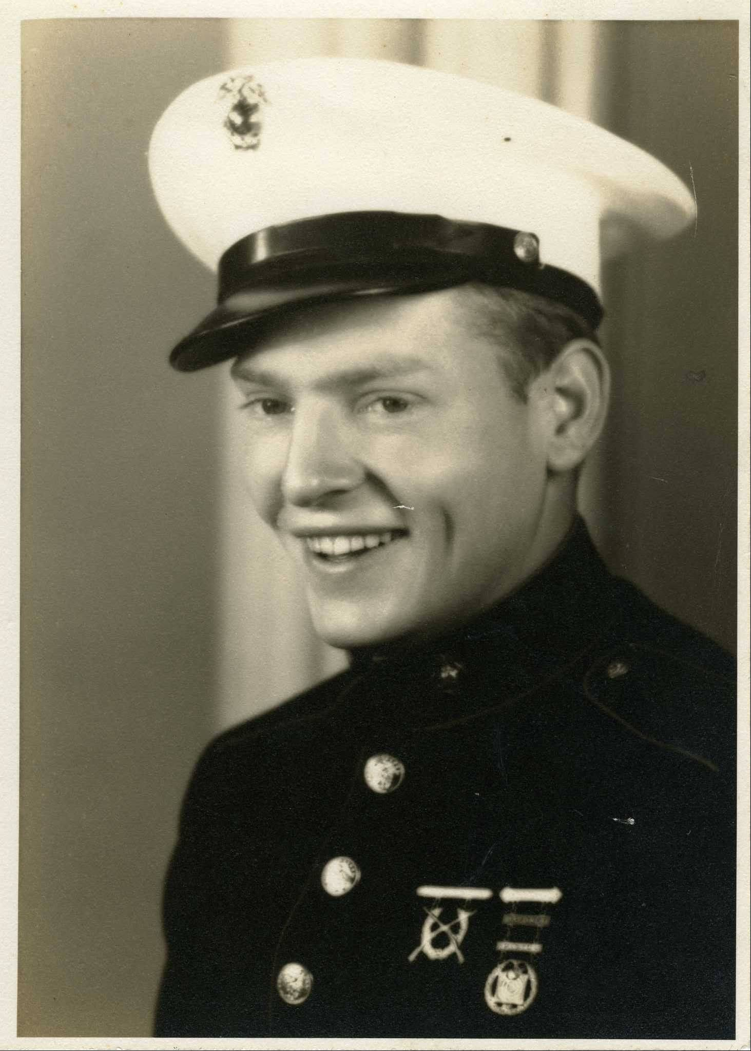 "This photo provided by the National WWII Museum shows a photo of 22-year-old Marine Cpl. Thomas ""Cotton"" Jones, who died in the bloody assault on a Japanese-held island during World War II."