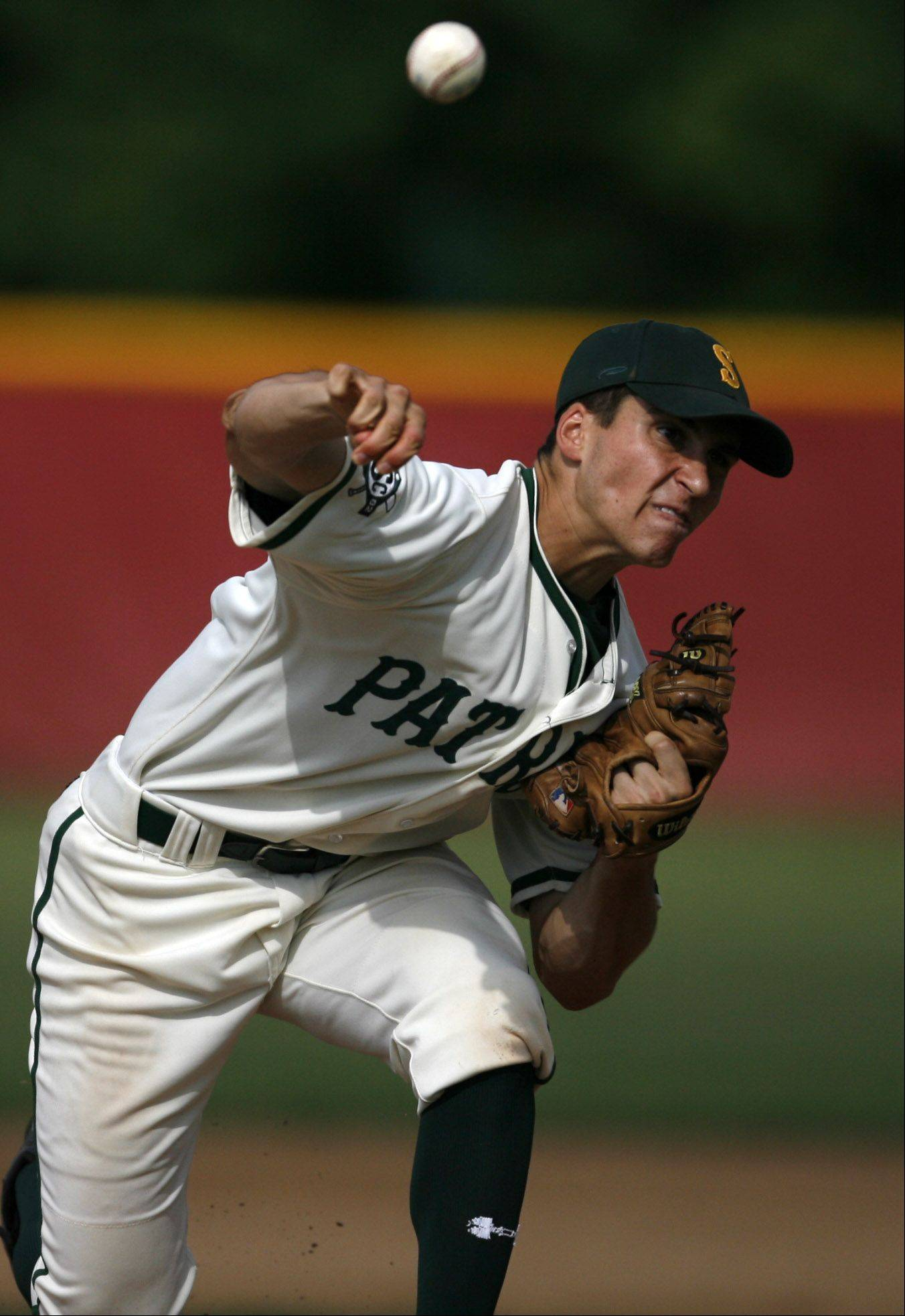 Kyle Ruchim, shown here pitching for Stevenson, was named to the All-Big Ten third team as a junior playing outfield for Northwestern.