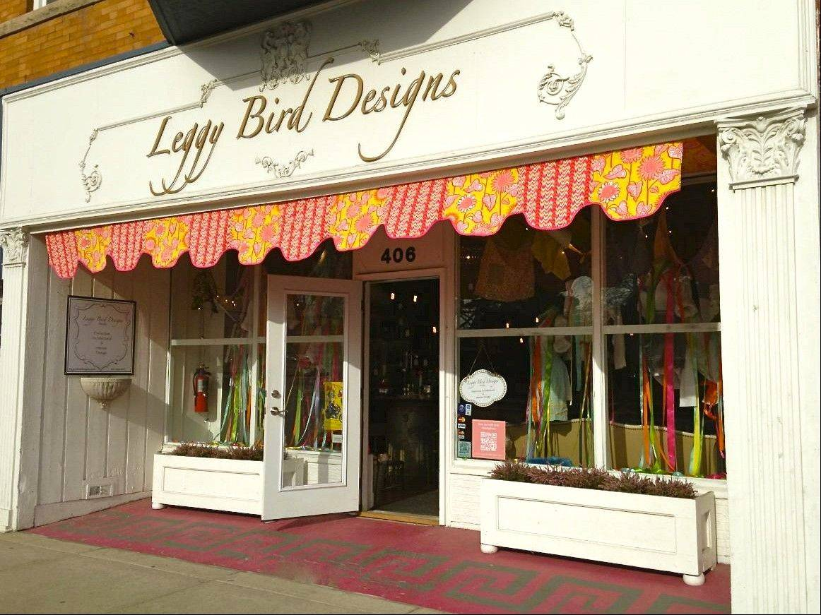 Leggy Bird Designs, which started as an architectural and interior design studio, now operates a shop in downtown Libertyville.