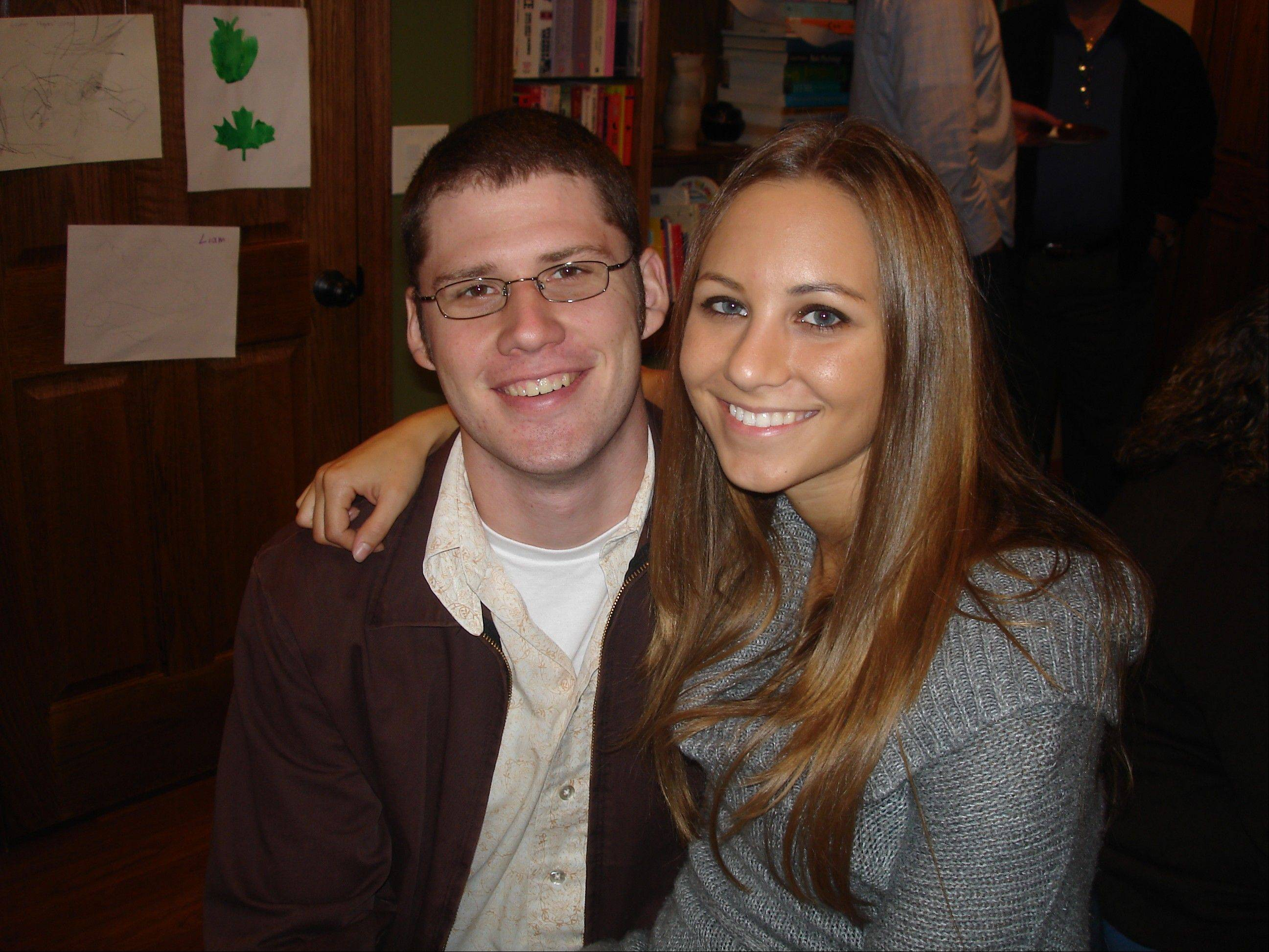 Curtis Thomas with his girlfriend, Christine Szukalla, taken in September 2010.