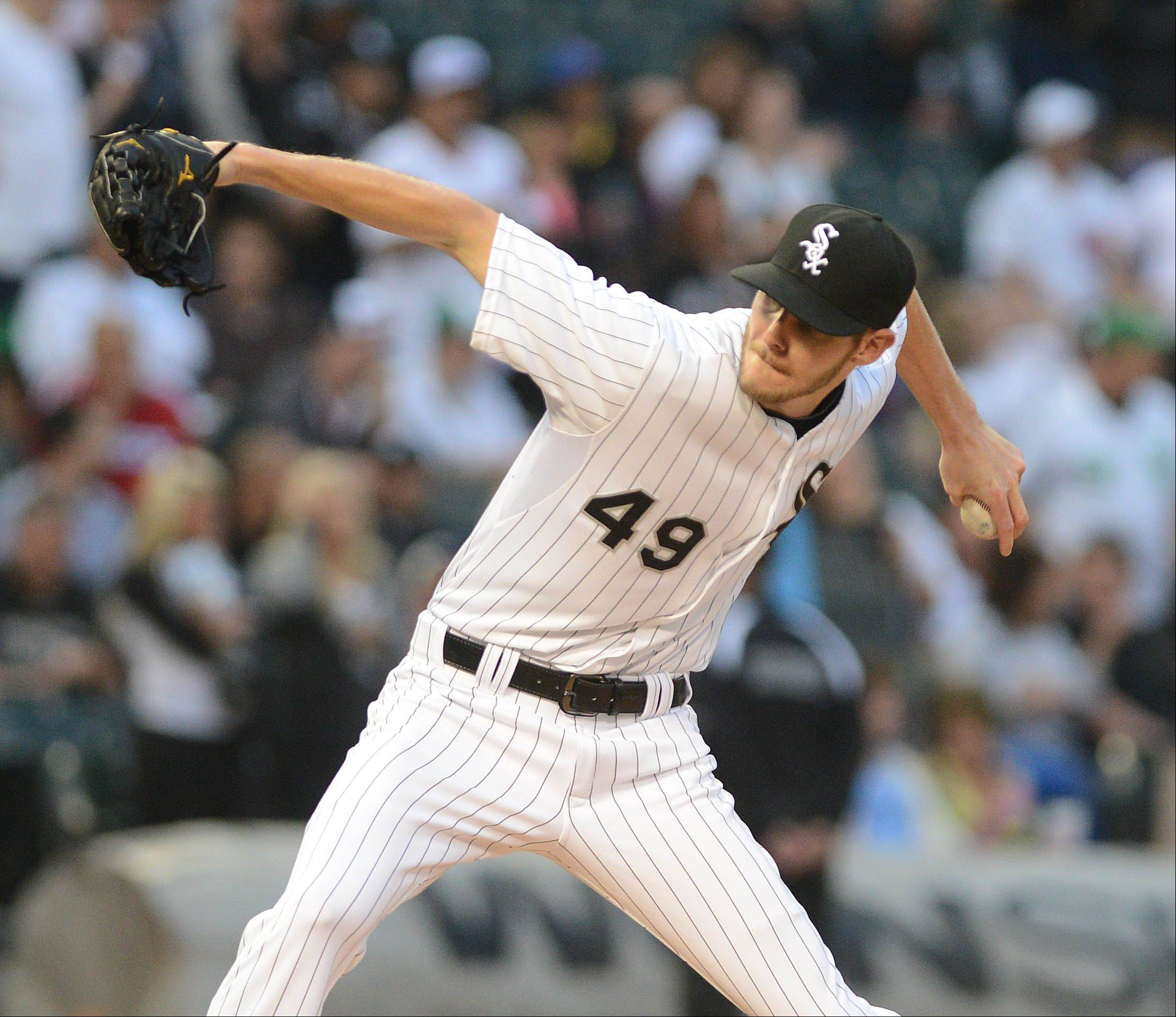 Chris Sale, who had missed his previous start with shoulder tendinitis, said he felt strong after working 3 innings before rain washed out the rest of Tuesday night�s game.