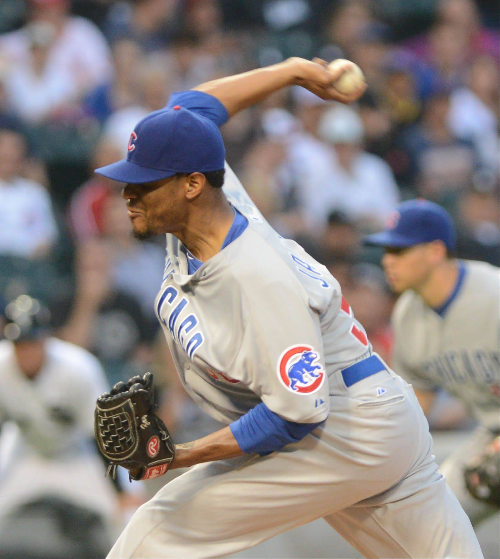 Cubs starter Edwin Jackson had things going his way Tuesday night at U.S. Cellular Field. And then the skies opened.