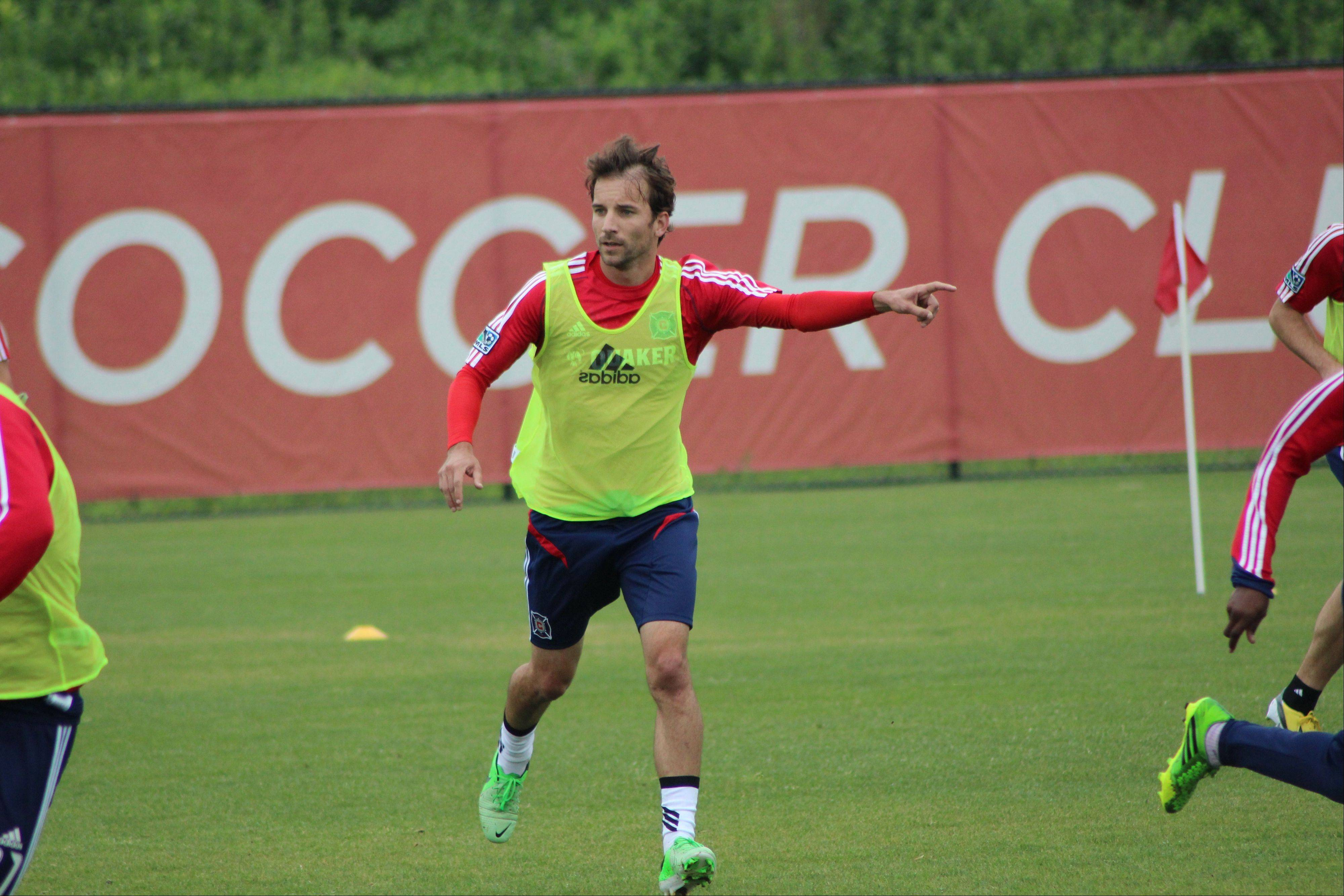 A versatile player in his MLS career, Mike Magee can play several positions for the Chicago Fire.