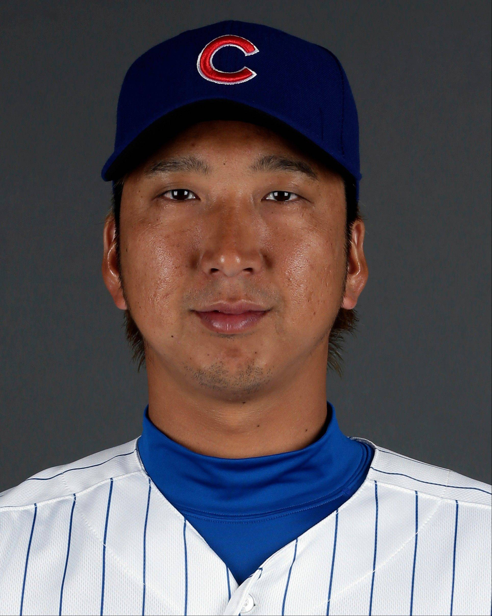 FILE - This is a 2013 file photo showing Kyuji Fujikawa of the Chicago Cubs baseball team. Cubs reliever Fujikawa will have Tommy John surgery to repair a torn ligament in his right elbow and miss the rest of the season. Fujikawa pitched 1 2-3 scoreless innings against Cincinnati on Sunday, May 26, 2013, before leaving with the injury. (AP Photo/Morry Gash, File)
