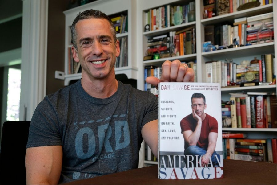 "Dan Savage's latest book, ""American Savage,"" was released on Tuesday, May 28."