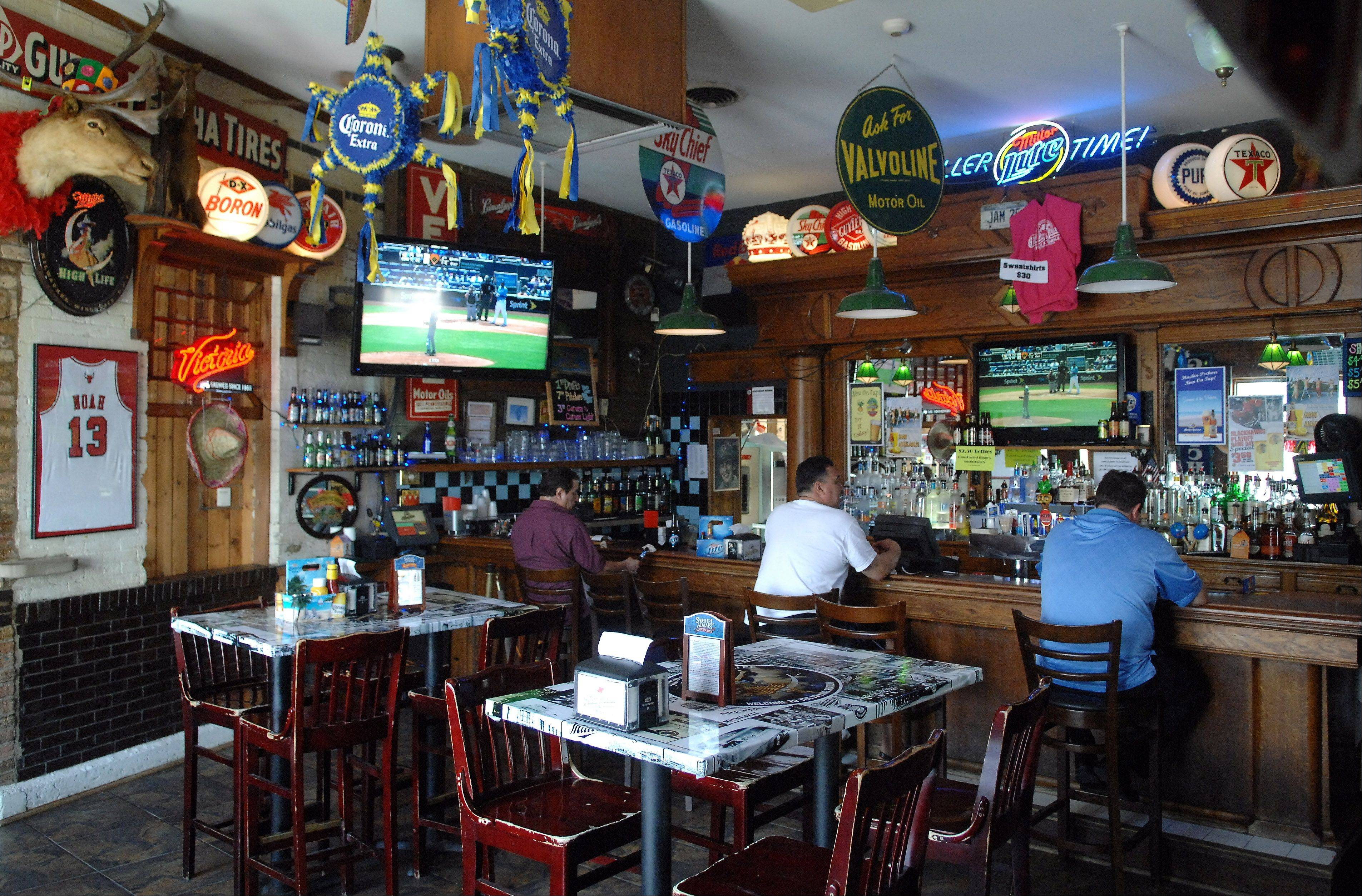 The bar at the Filling Station in downtown St. Charles stays open after the dining room closes.