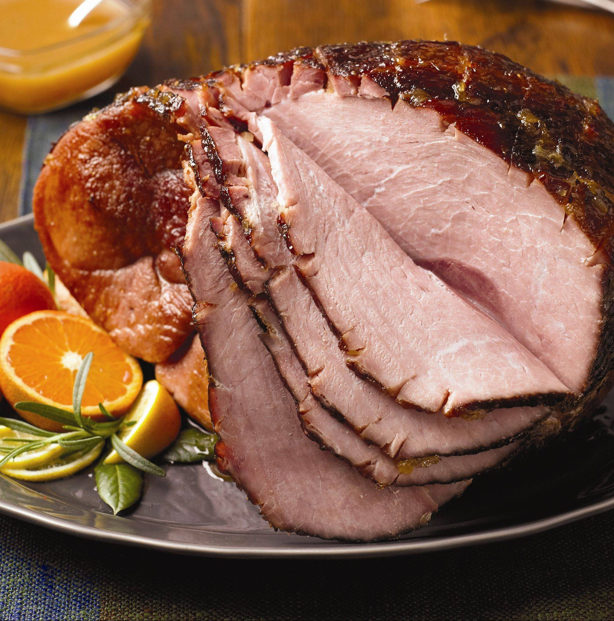 A grilled ham is a delicious and surprising way to feed a crowd.