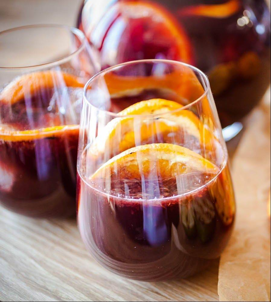 Grilled fruit adds dimension to summer sangria.