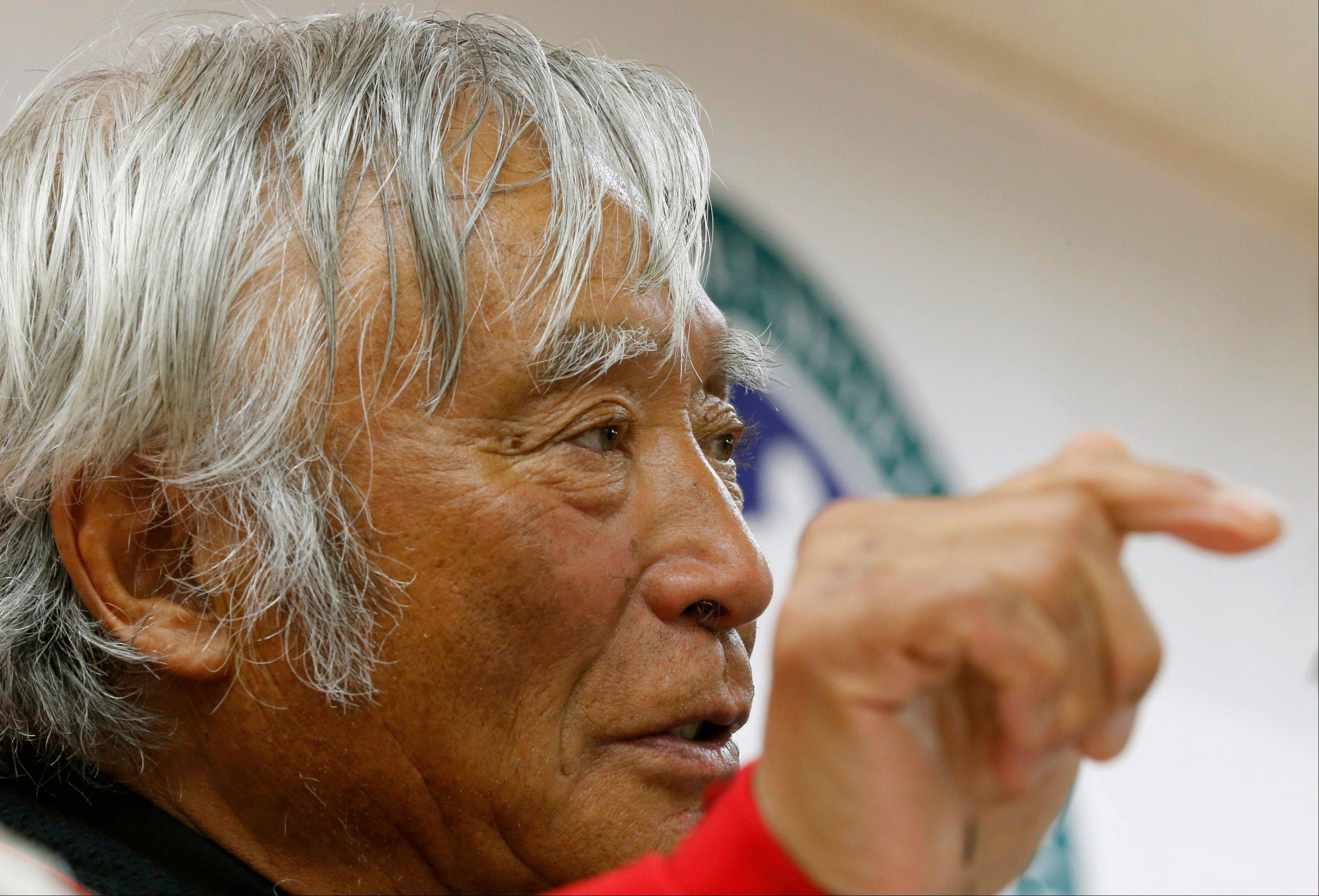 Yuichiro Miura, an 80-year-old Japanese mountaineer who became the oldest person to reach the top of Mount Everest last Thursday, says he almost died during his descent and does not plan another climb of the world's highest peak, though he hopes to do plenty of skiing.