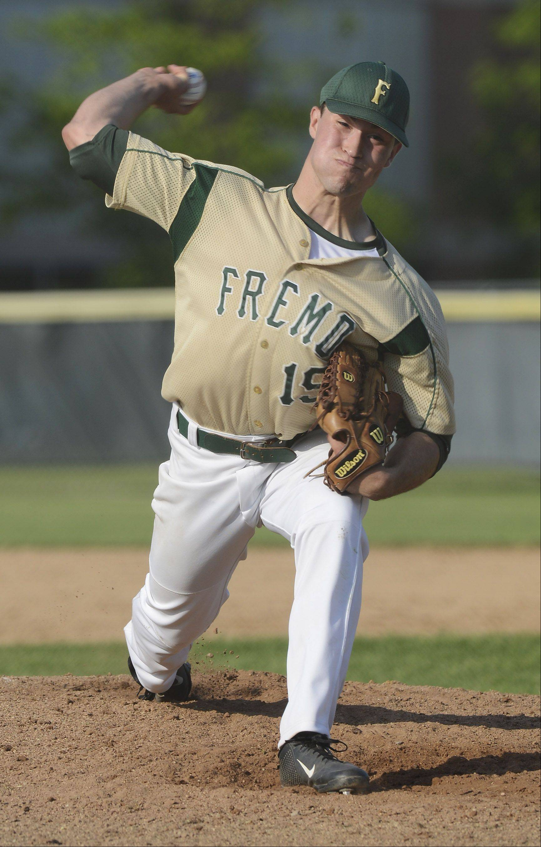Fremd pitcher Jon Escobar delivers against Libertyville during the Glenbrook North sectional semifinal Wednesday.