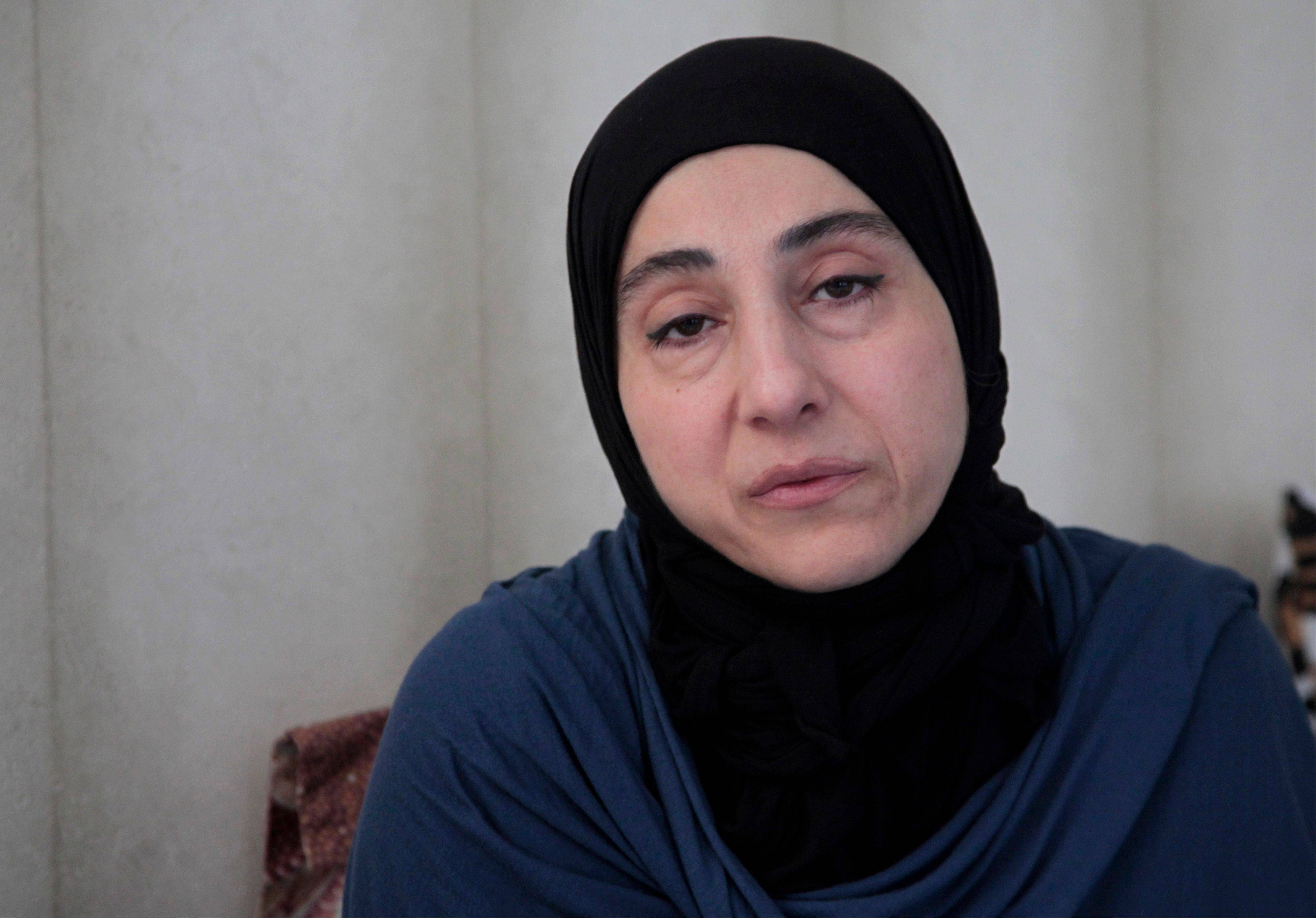 Zubeidat Tsarnaeva, mother of the two Boston bombing suspects, speaks during a meeting of the Tsarnaevs with the AP in Makhachkala, regional capital of Dagestan, Russia, Thursday. Authorities accuse Tamerlan Tsarnaev, who was slain in a shootout with police, and his younger brother Dzhokhar of organizing the attacks, which killed three.