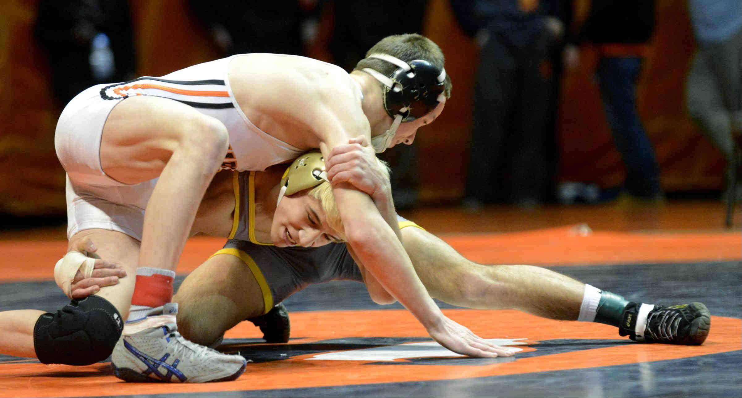 Glenbard North�s Jered Cortez won an individual state wrestling championship in February.