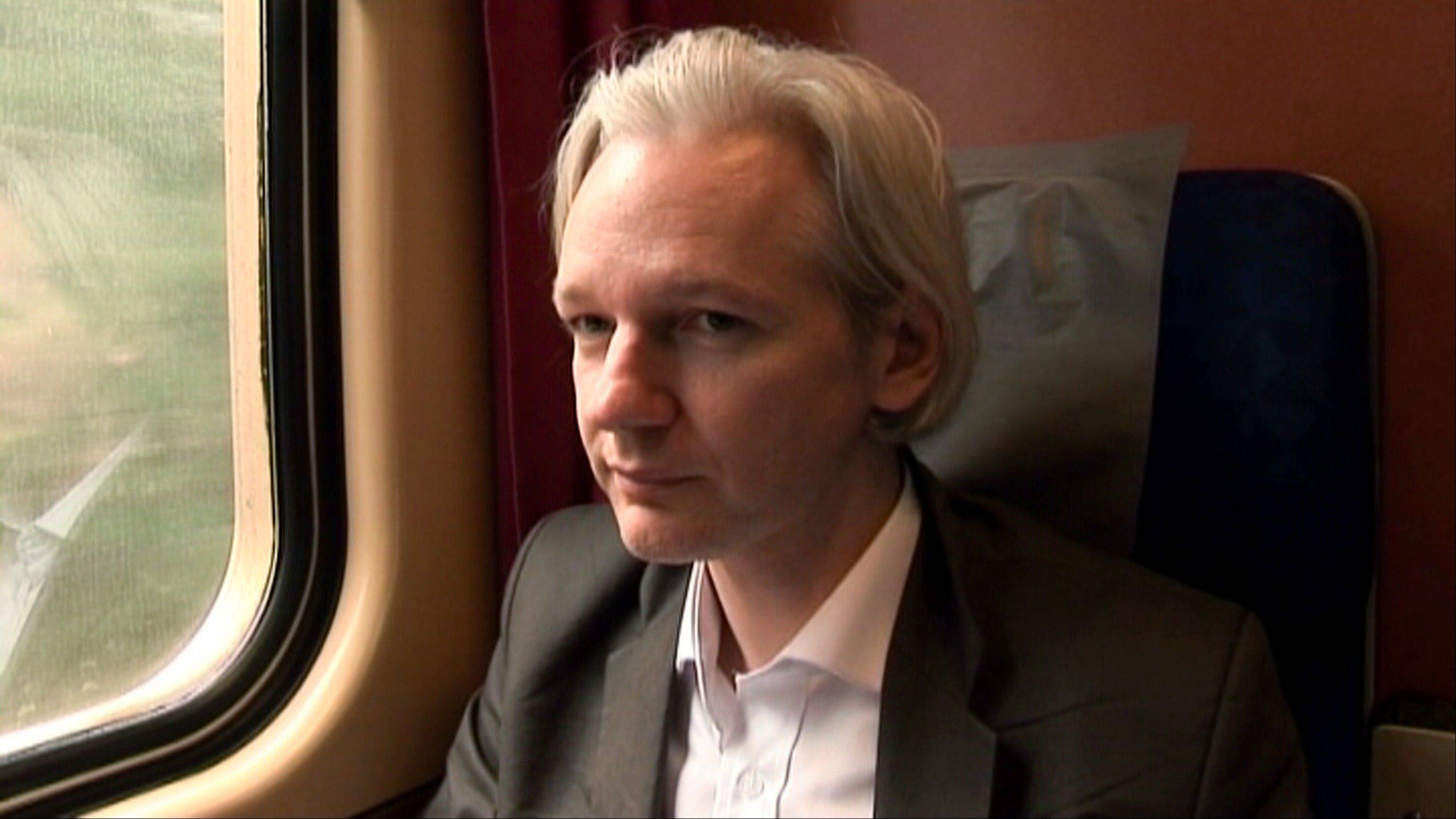 "Julian Assange in a scene from the documentary, ""We Steal Secrets: The Story of WikiLeaks."""
