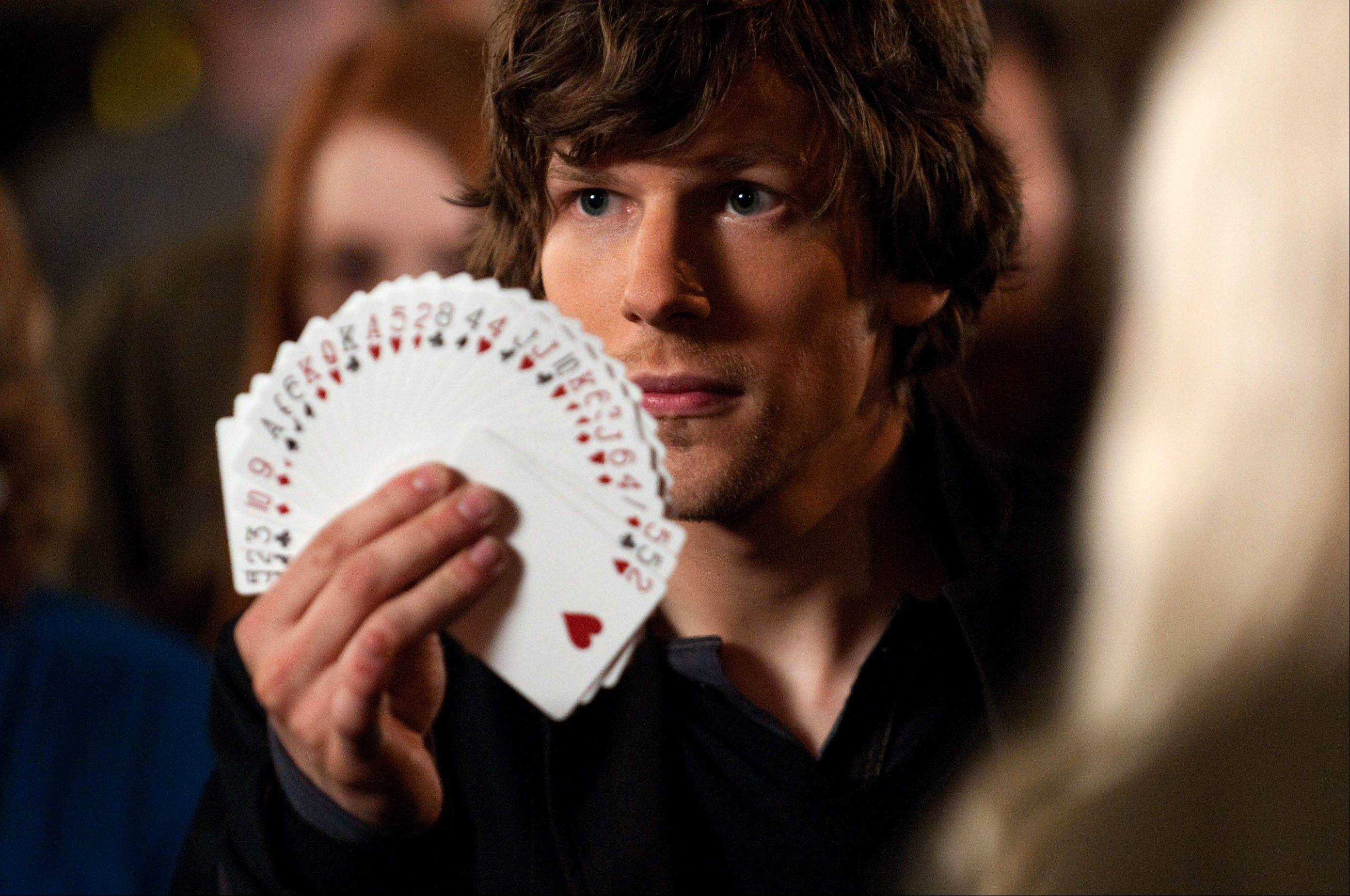 "Professional magician J. Daniel Atlas (Jesse Eisenberg) keeps his cards close to his vest in ""Now You See Me."""