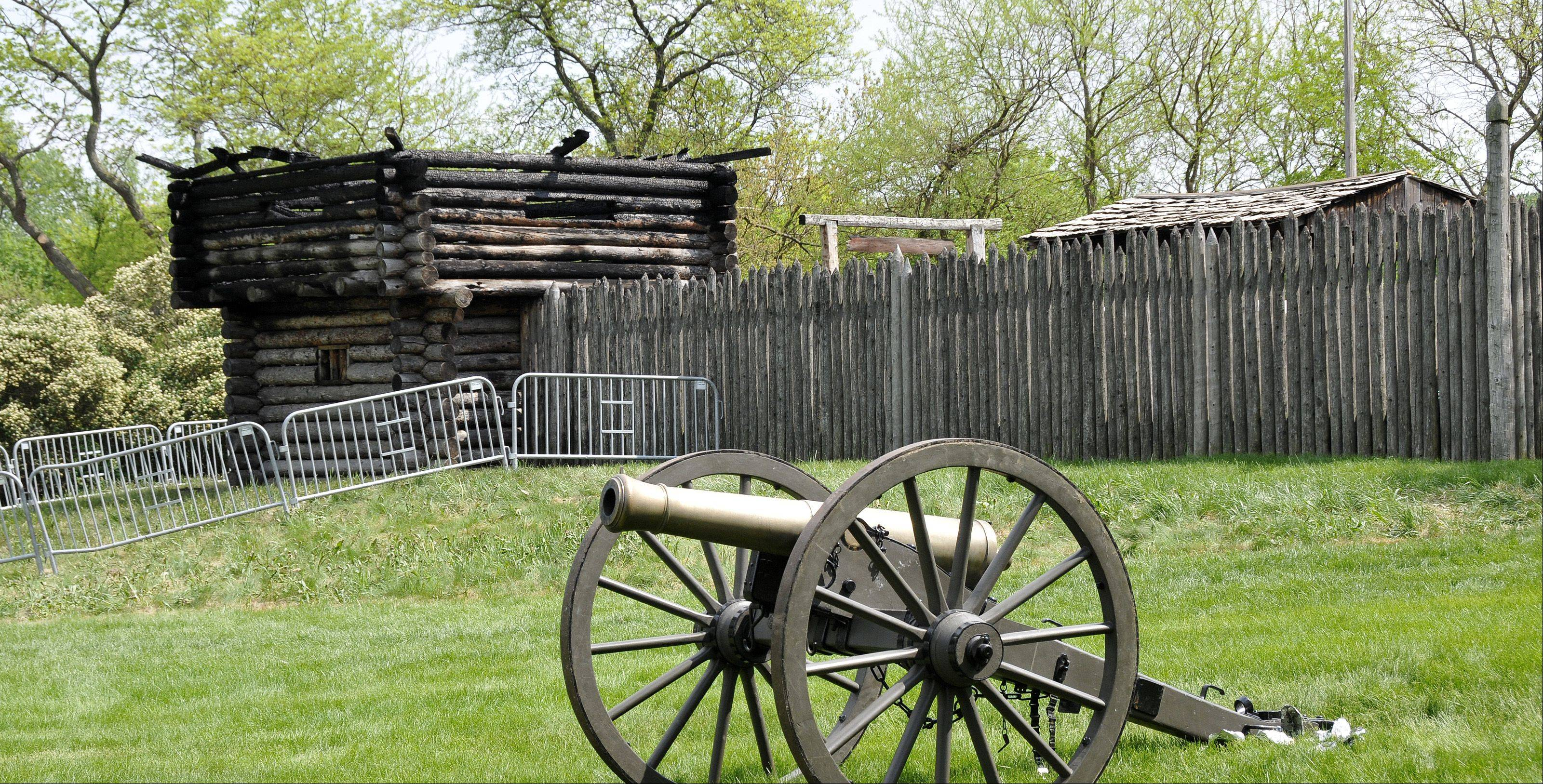 The fire-damaged blockhouse at Fort Payne will likely soon be demolished and replaced with stockade fencing. Naper Settlement officials are unsure if and when it would be replaced.