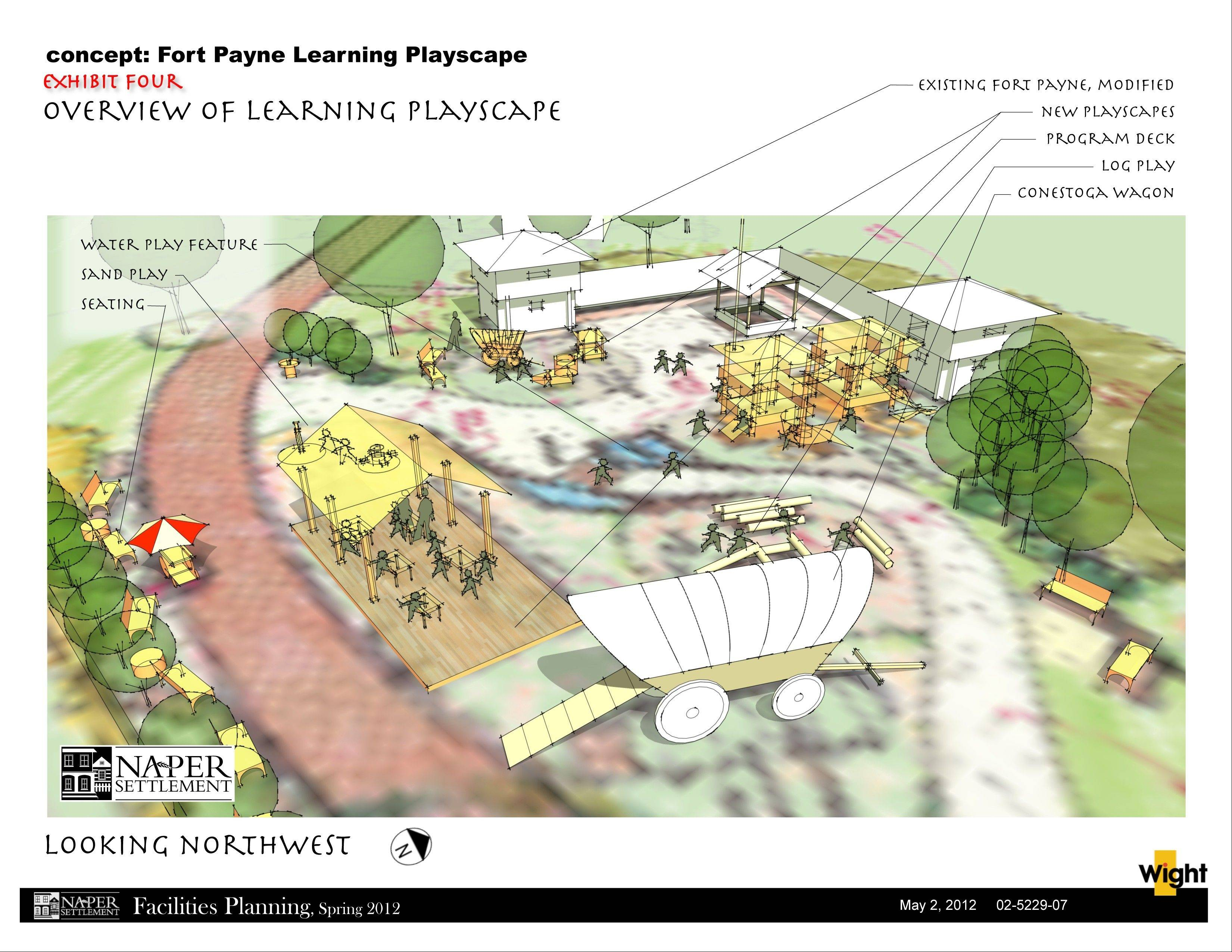 Architects have begun designing the $340,000 Fort Payne Learning Playscape, but officials say it won't be built until the settlement raises the full cost of the project.