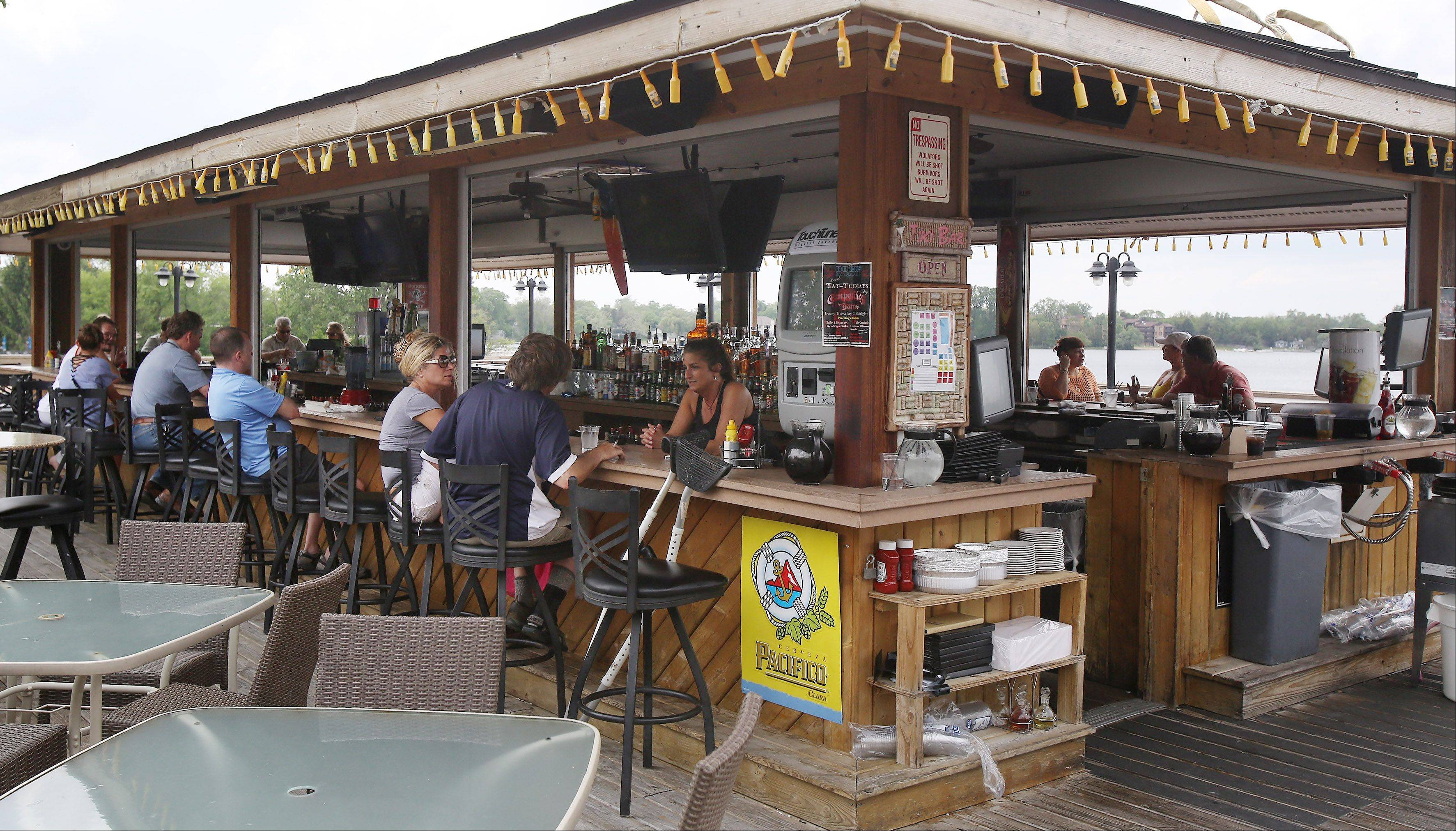 The outdoor bar at Dock Bar and Grill on Route 176 in Wauconda. The village is working with the restaurant/bar and other entertainment establishments in the town to limit noise.
