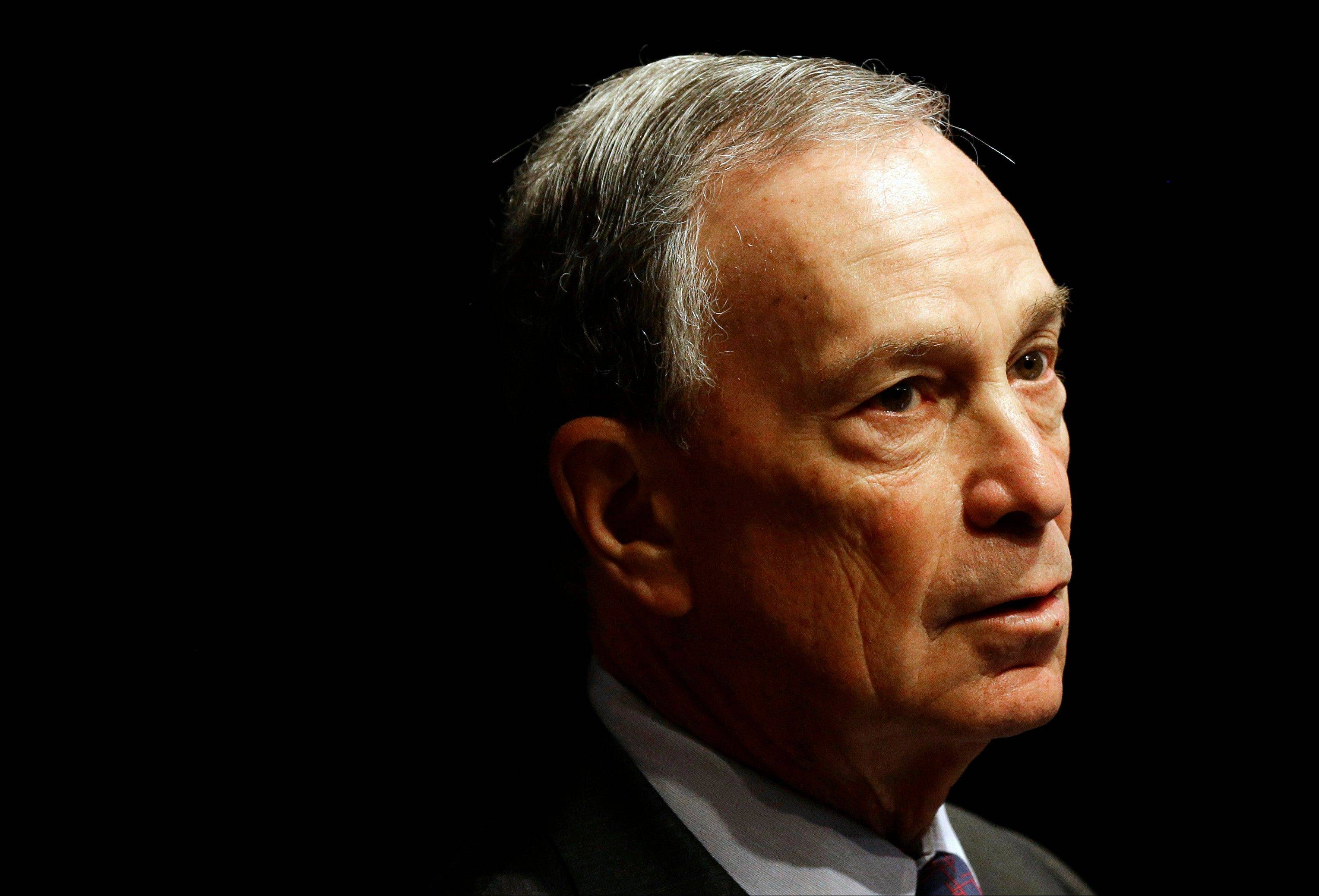 New York City Mayor Michael Bloomberg. Police said threatening letters containing traces of the poison ricin were opened Friday, May 24, 2013 at New York City's mail sorting facility and Sunday, May 26, in Washington at the headquarters of the nonprofit started by Bloomberg, Mayors Against Illegal Guns. Both were addressed to Bloomberg and contained threats referencing the debate on gun laws.