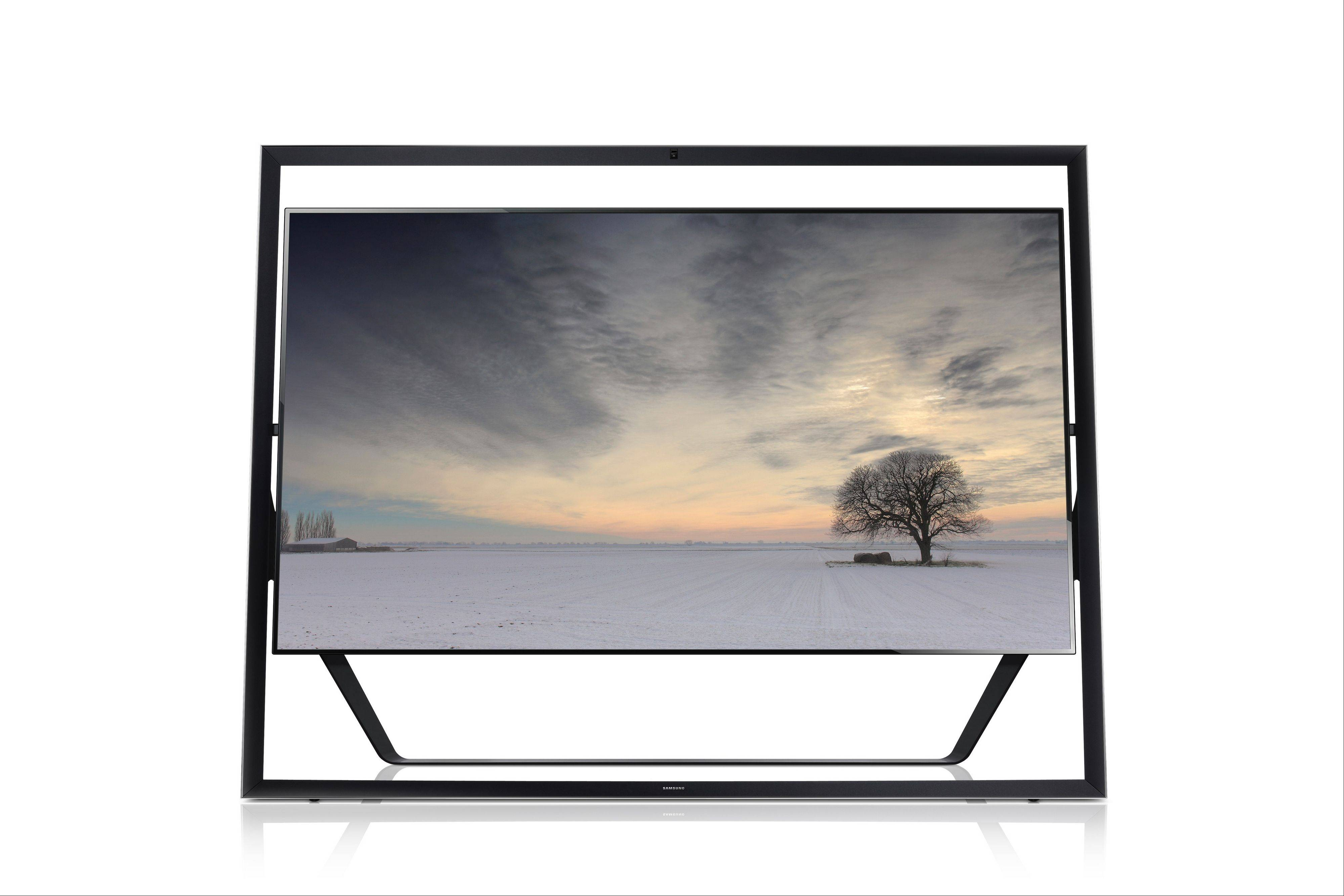 This 85-inch Samsung TV screen with four times the clarity of a regular high-definition TV has a picture that is startling -- and a $40,000 price tag to match.
