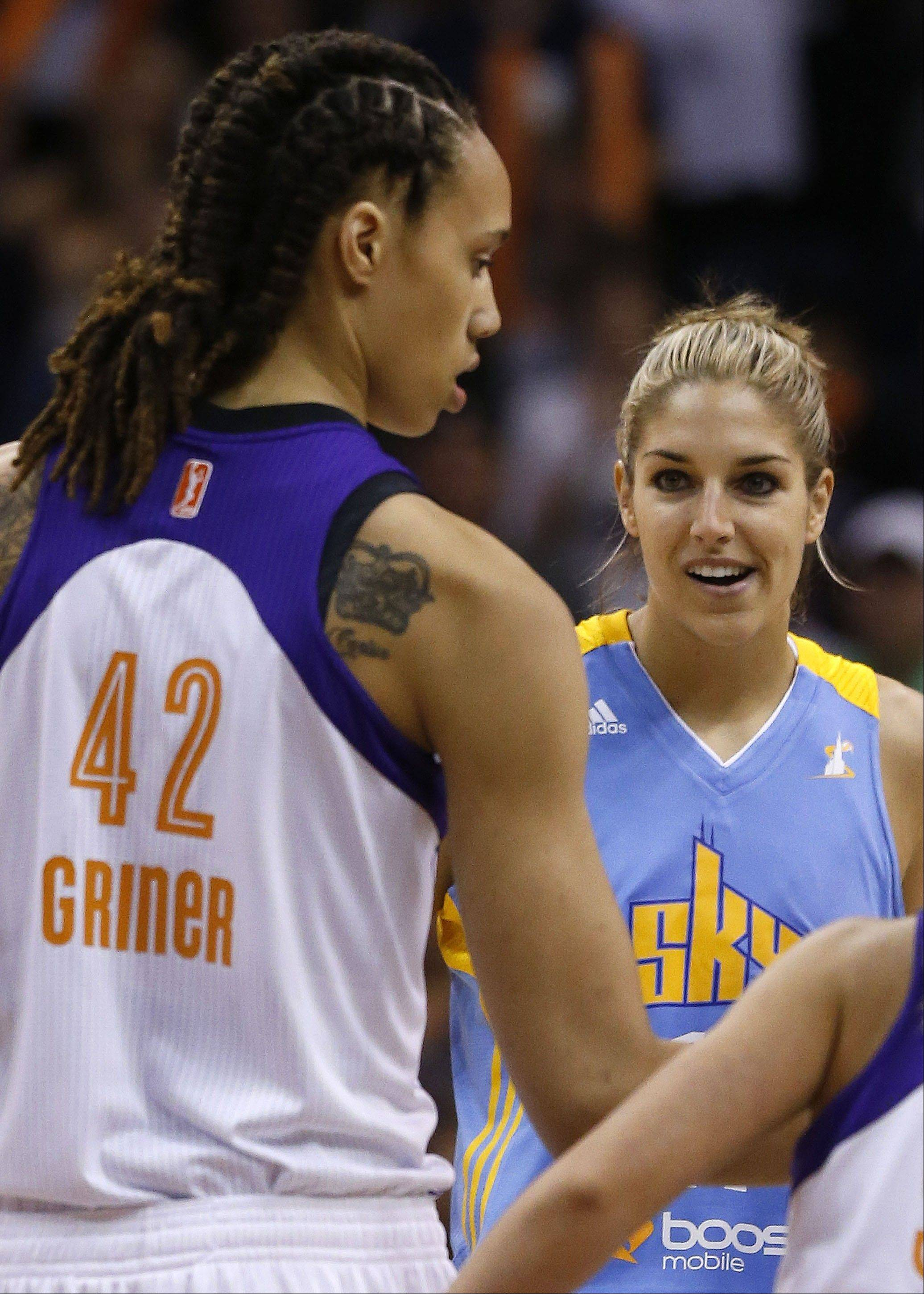 While Brittney Griner had a rough debut, Chicago Sky's Elena Delle Donne scored 22 points in her first WNBA game and led the team in minutes played while grabbing 8 rebounds and also blocking 4 shots.