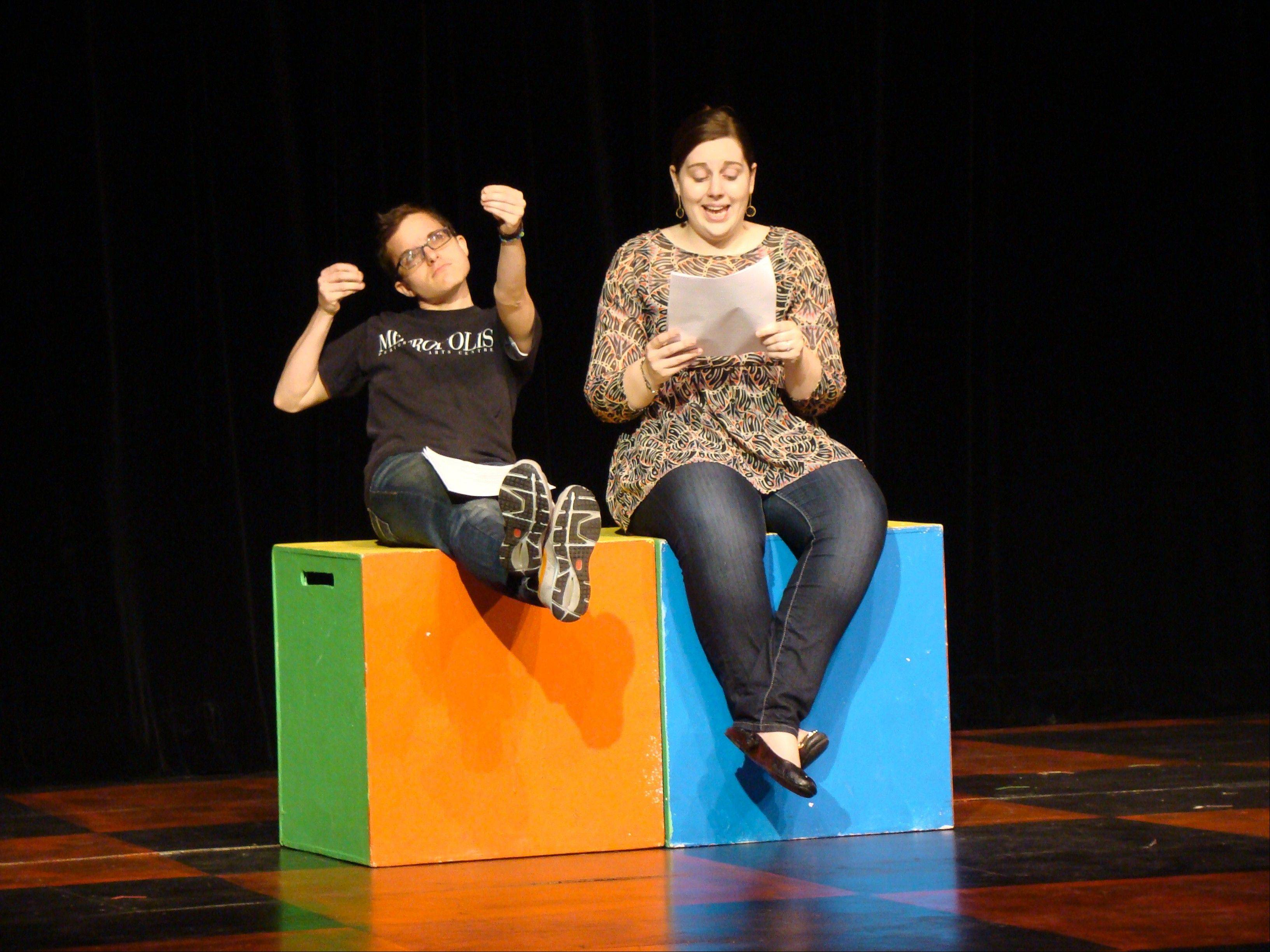 Metropolis staff act out a play written by one of the second-grade classes.