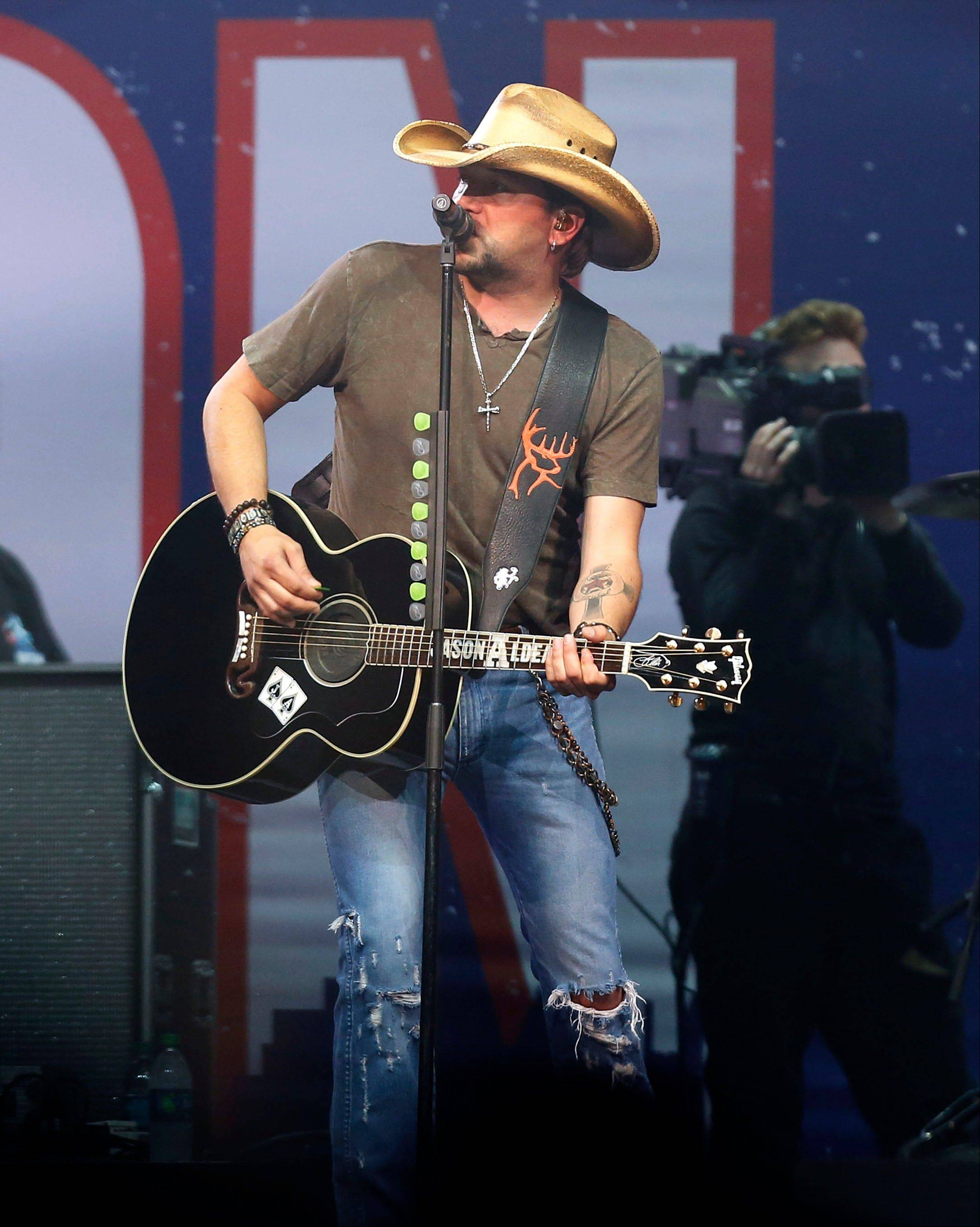 Country superstar Jason Aldean performed at the Boston Strong Concert: An Evening of Support and Celebration Thursday.