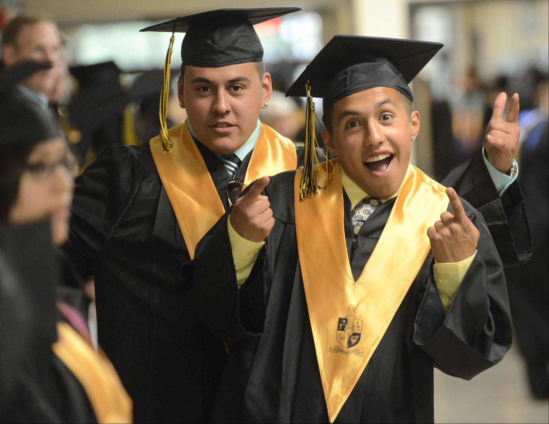 Images from the Glenbard North High School graduation on Friday, May 31 at the school in Carol Stream.