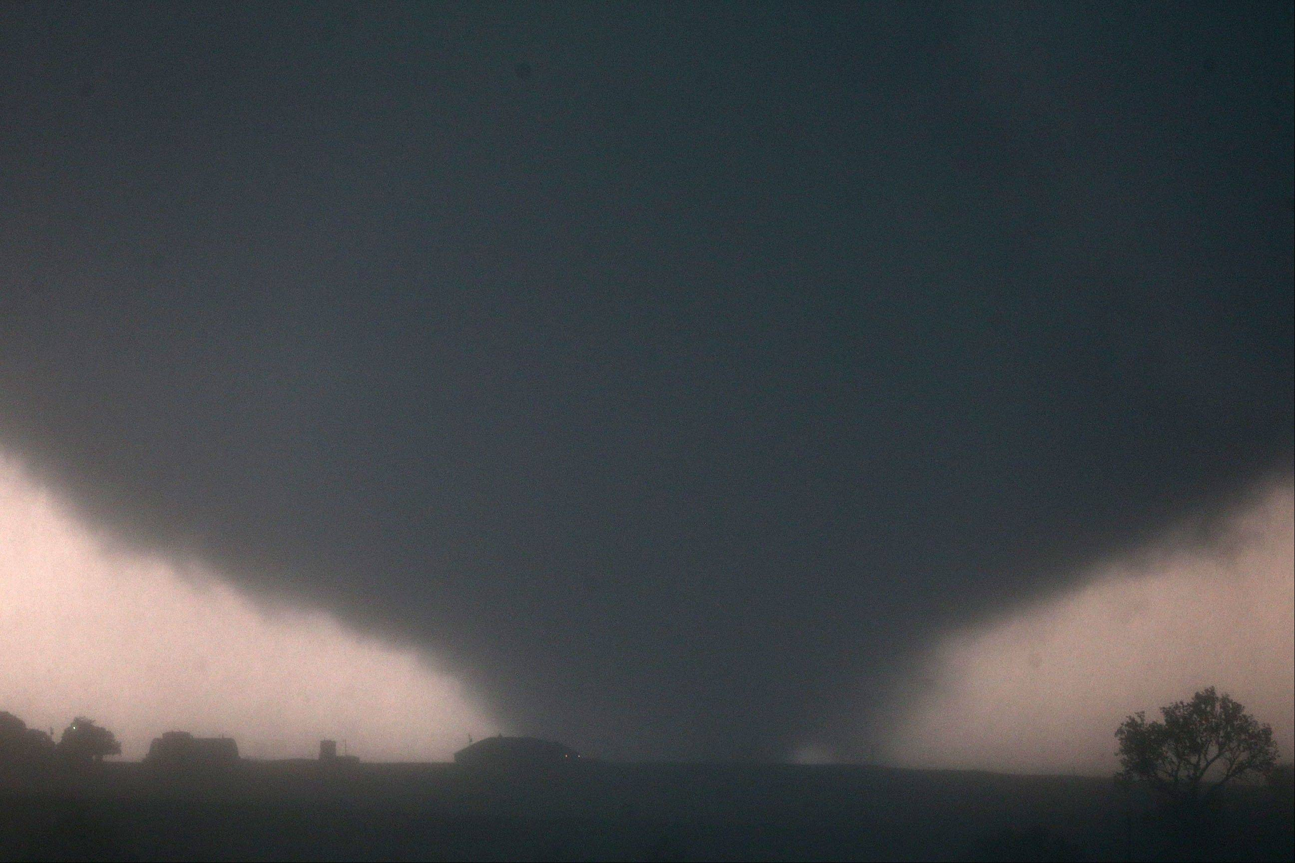 A tornado touches down Friday near El Reno, Okla.