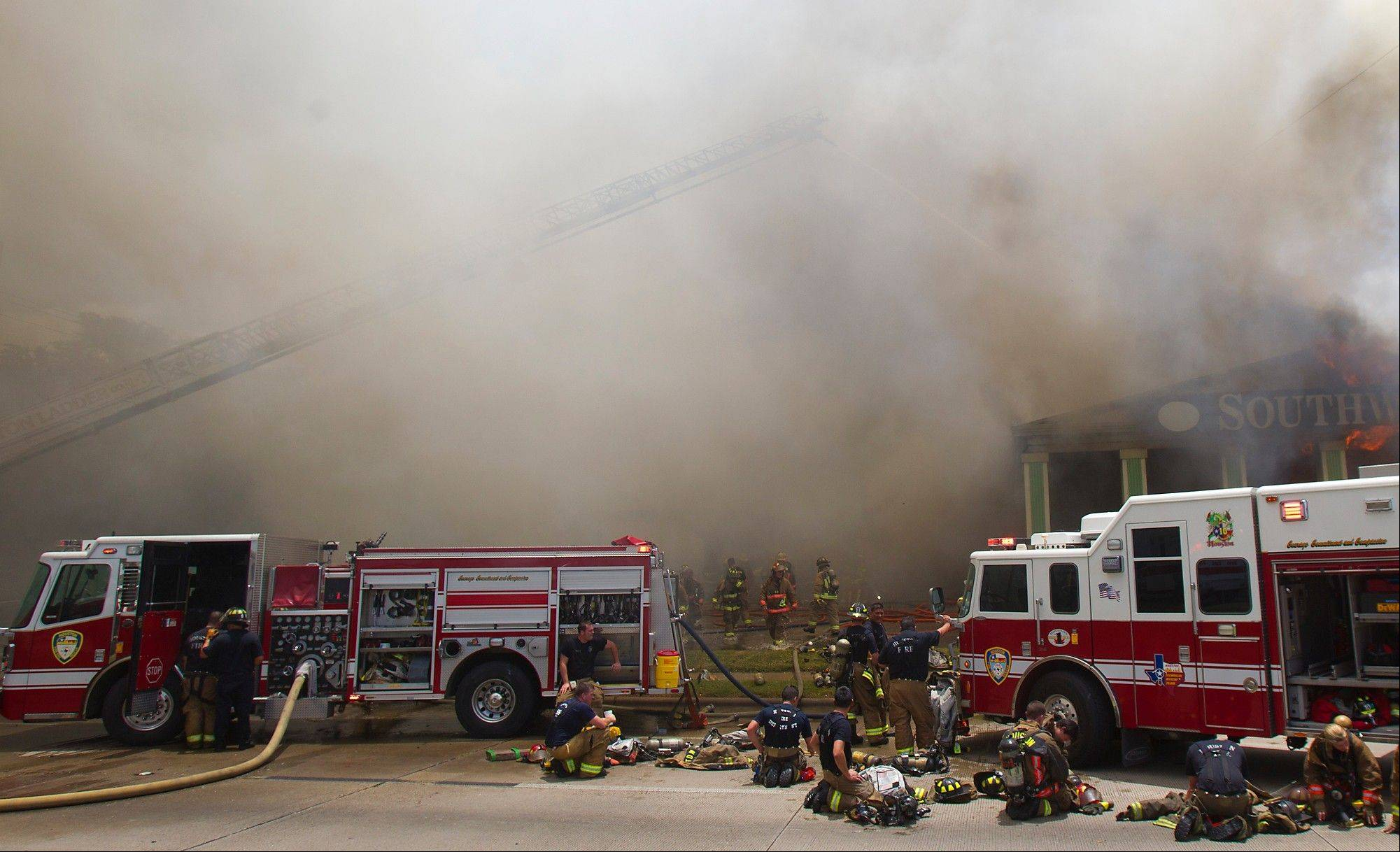 The Friday fire that engulfed a Houston motel has killed four firefighters.