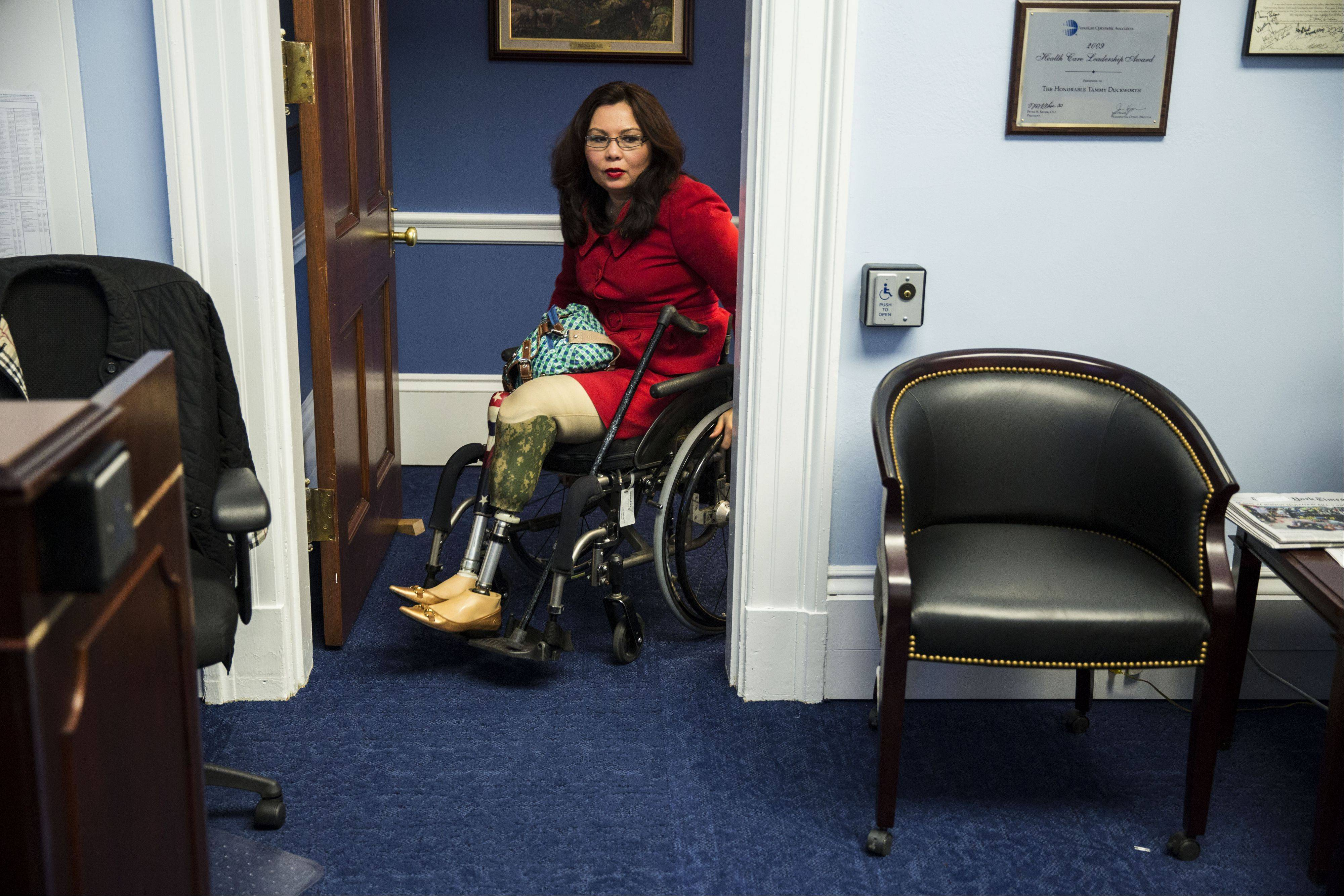 Democratic U.S. Rep. Tammy Duckworth says she made an early decision to make her entire office fully accessible to those with disabilities.