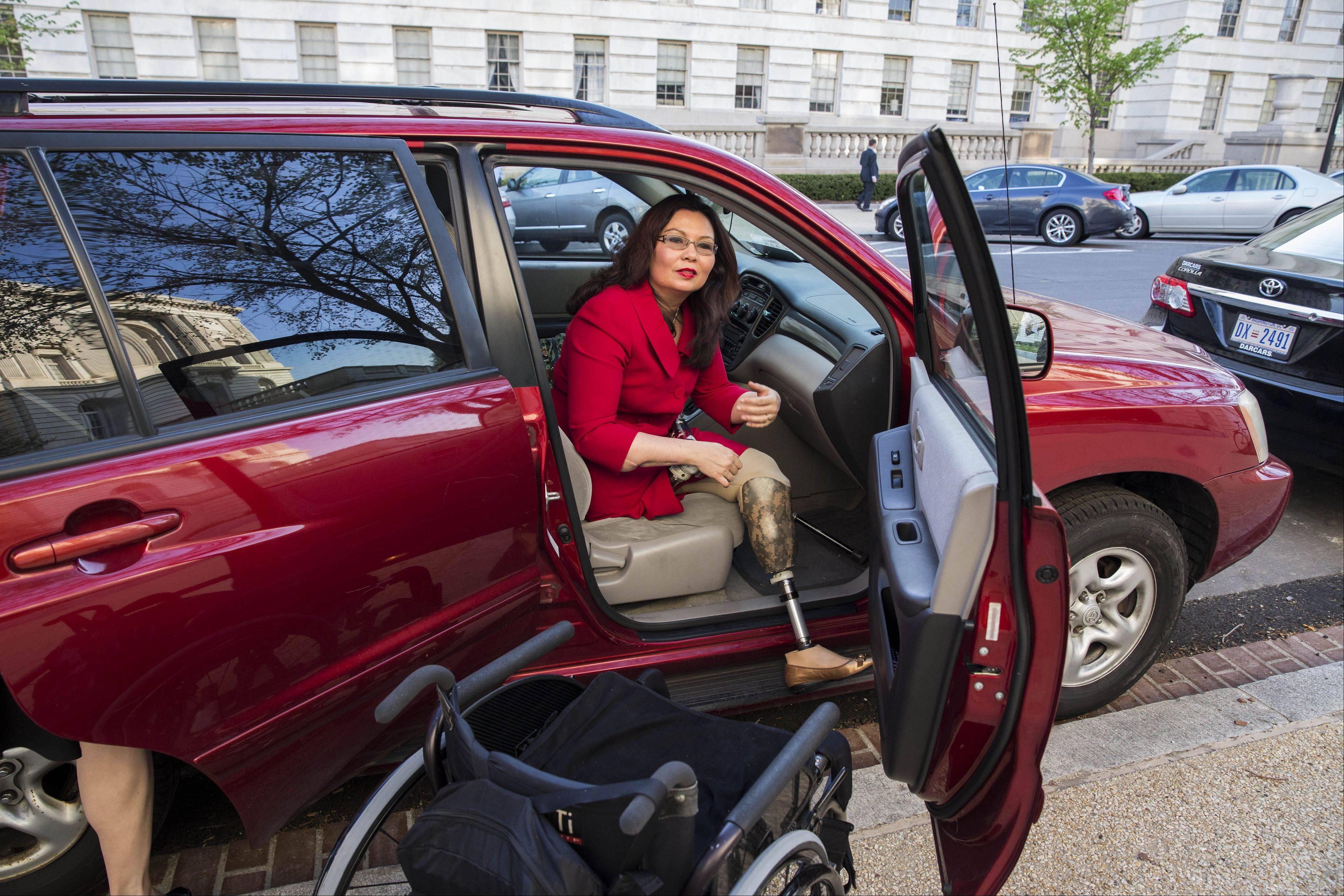 Democratic U.S. Rep. Tammy Duckworth, a double-amputee Iraq War veteran, aims to be a voice for both veteran and disability issues.