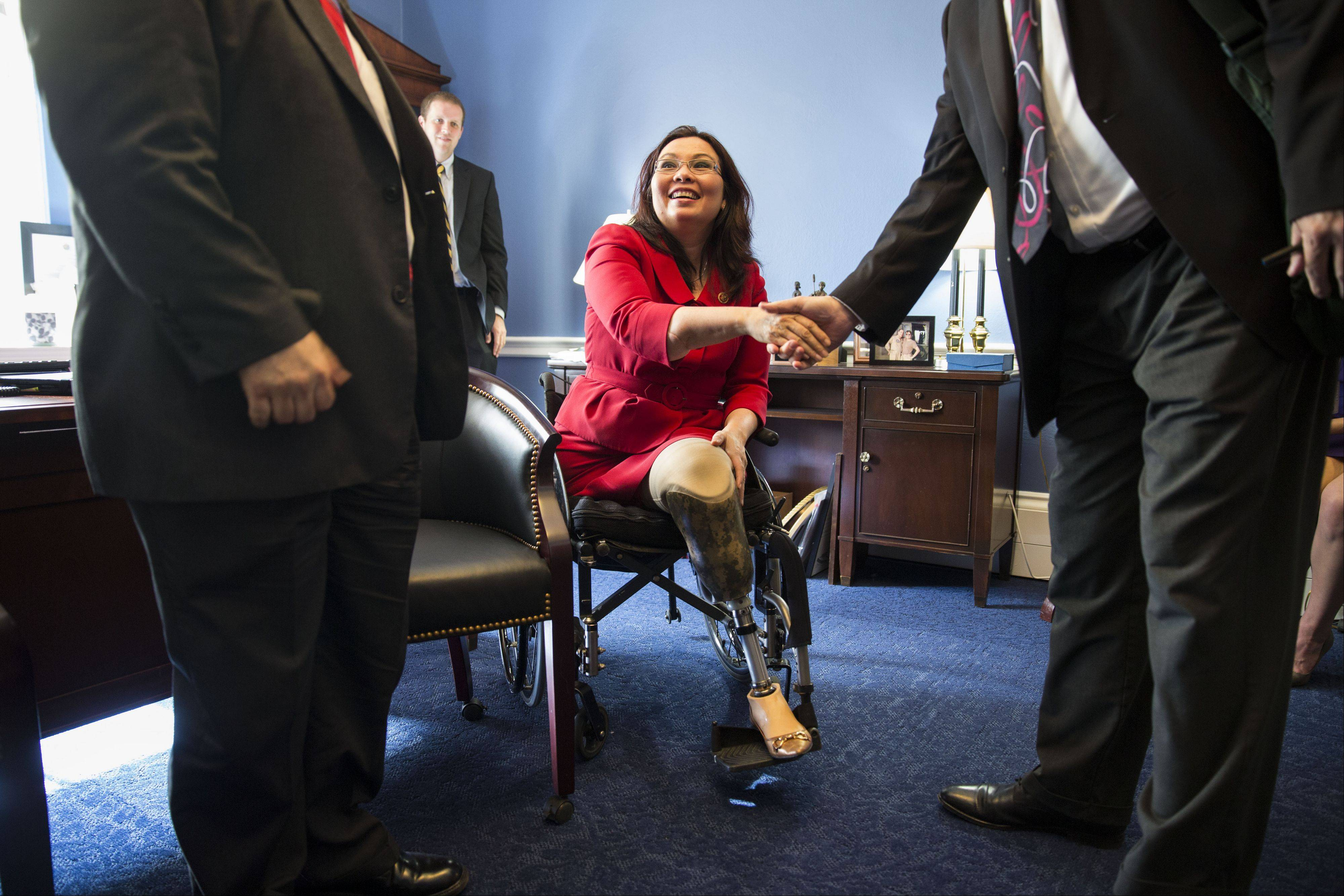U.S. Rep. Tammy Duckworth meets with members of the Illinois League of Financial Institutions in Washington, D.C.