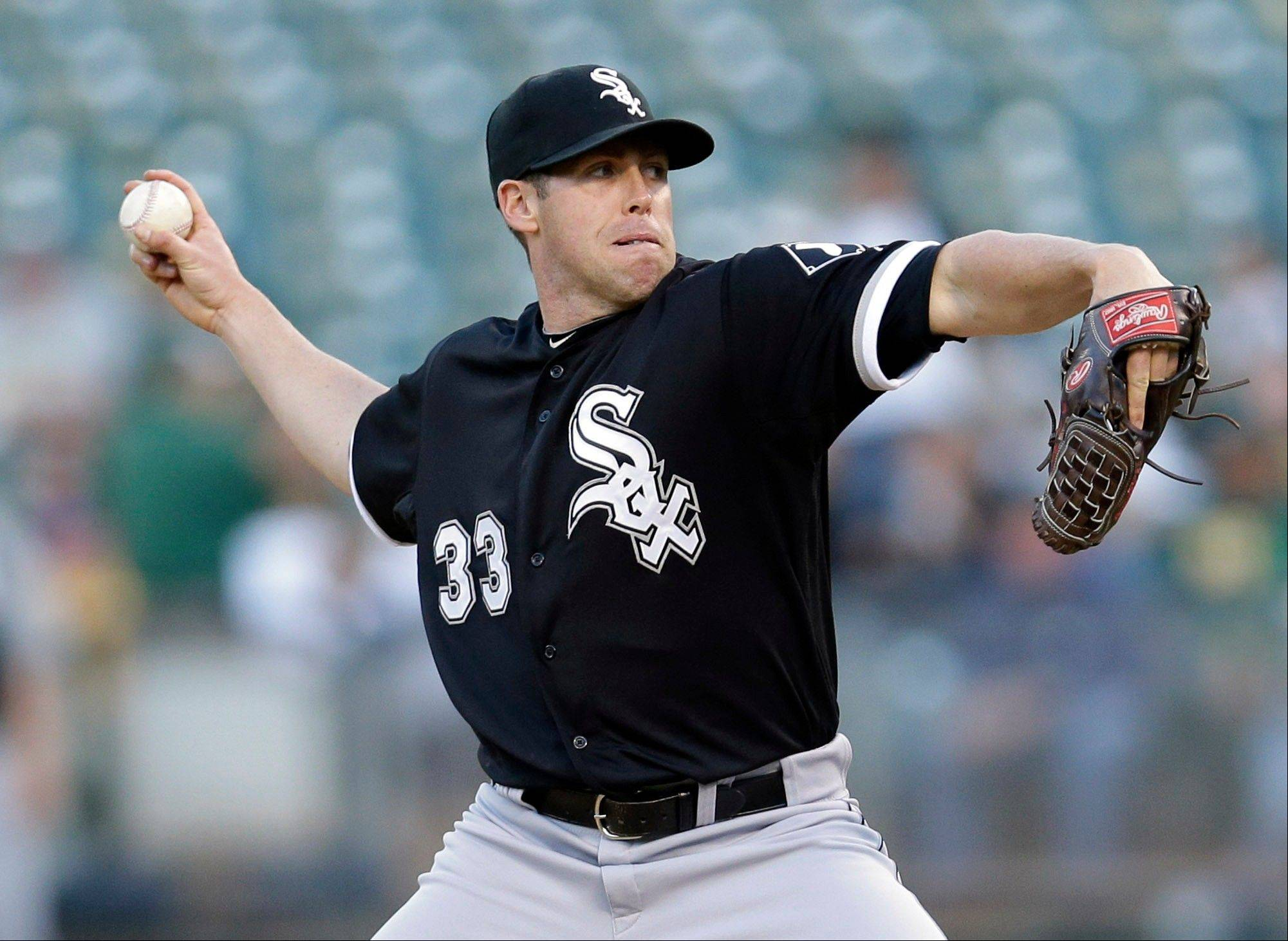 White Sox starter Dylan Axelrod shutout the Oakland Athletics for seventh innings but didn't get any run support Friday night in Oakland. The A's put together a 3-run inning in the eighth to win the game.