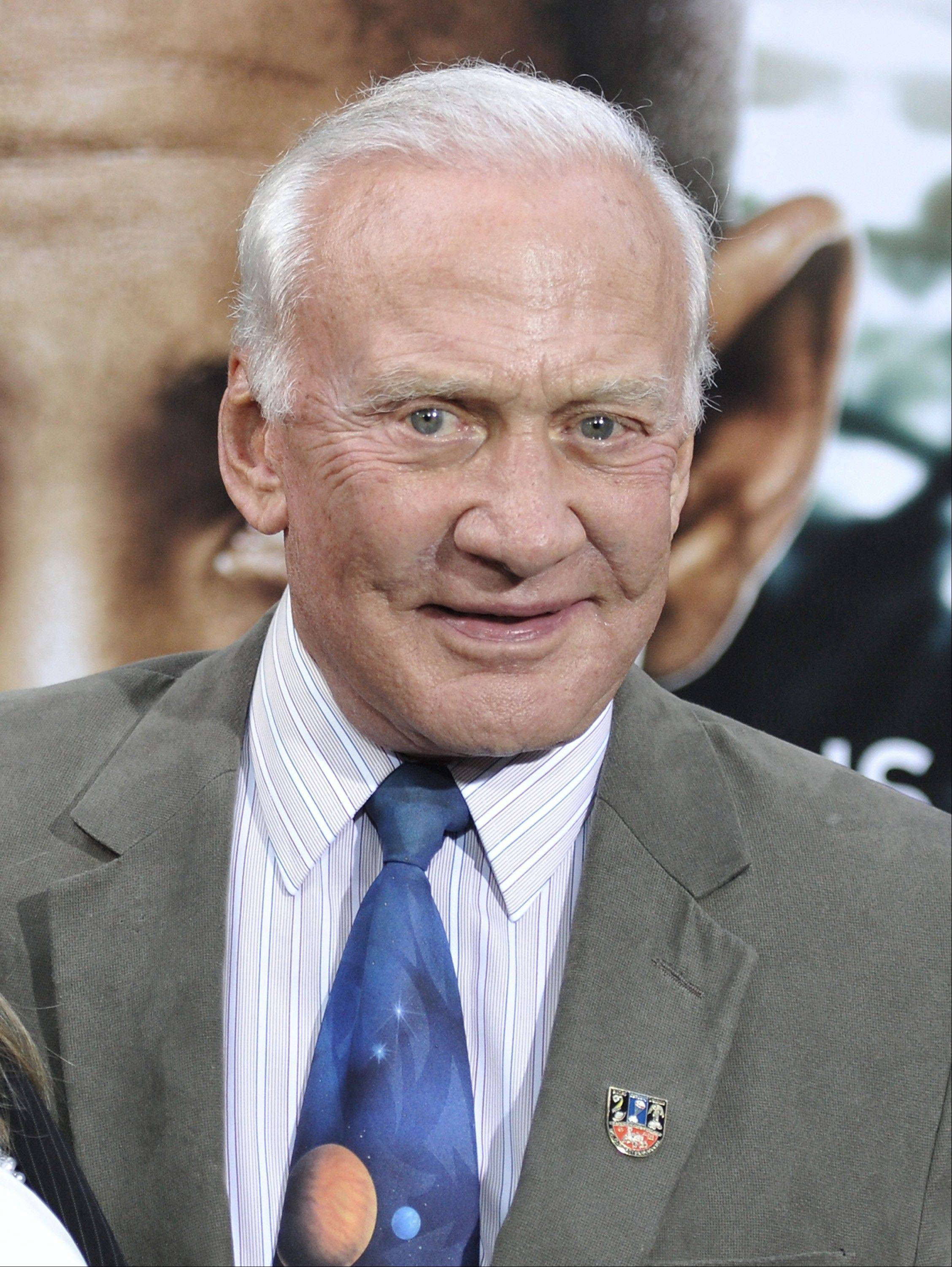 Former astronaut Buzz Aldrin has one point of contention with the new movie �After Earth�: �There was a lot of noise. In space, you don�t get that much noise.�
