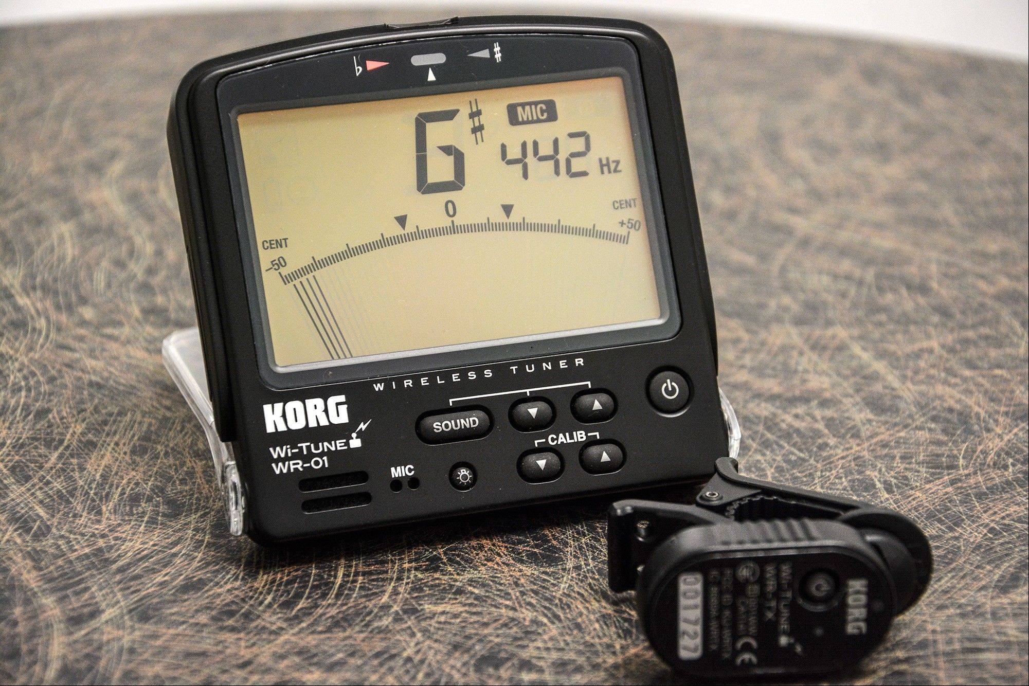 The Korg Wi-Tune wireless musical instrument tuner.