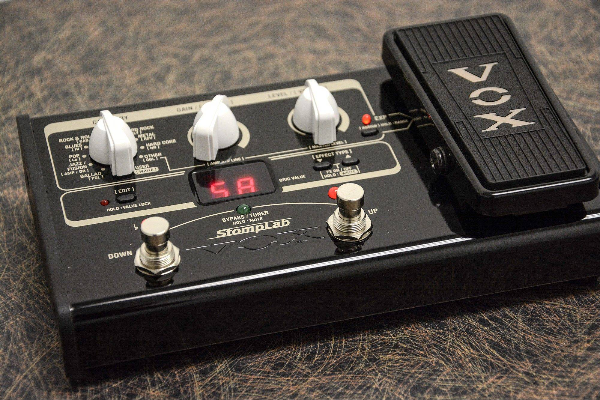The Vox StompLab 2G is a sound effects pedal with preset sounds.