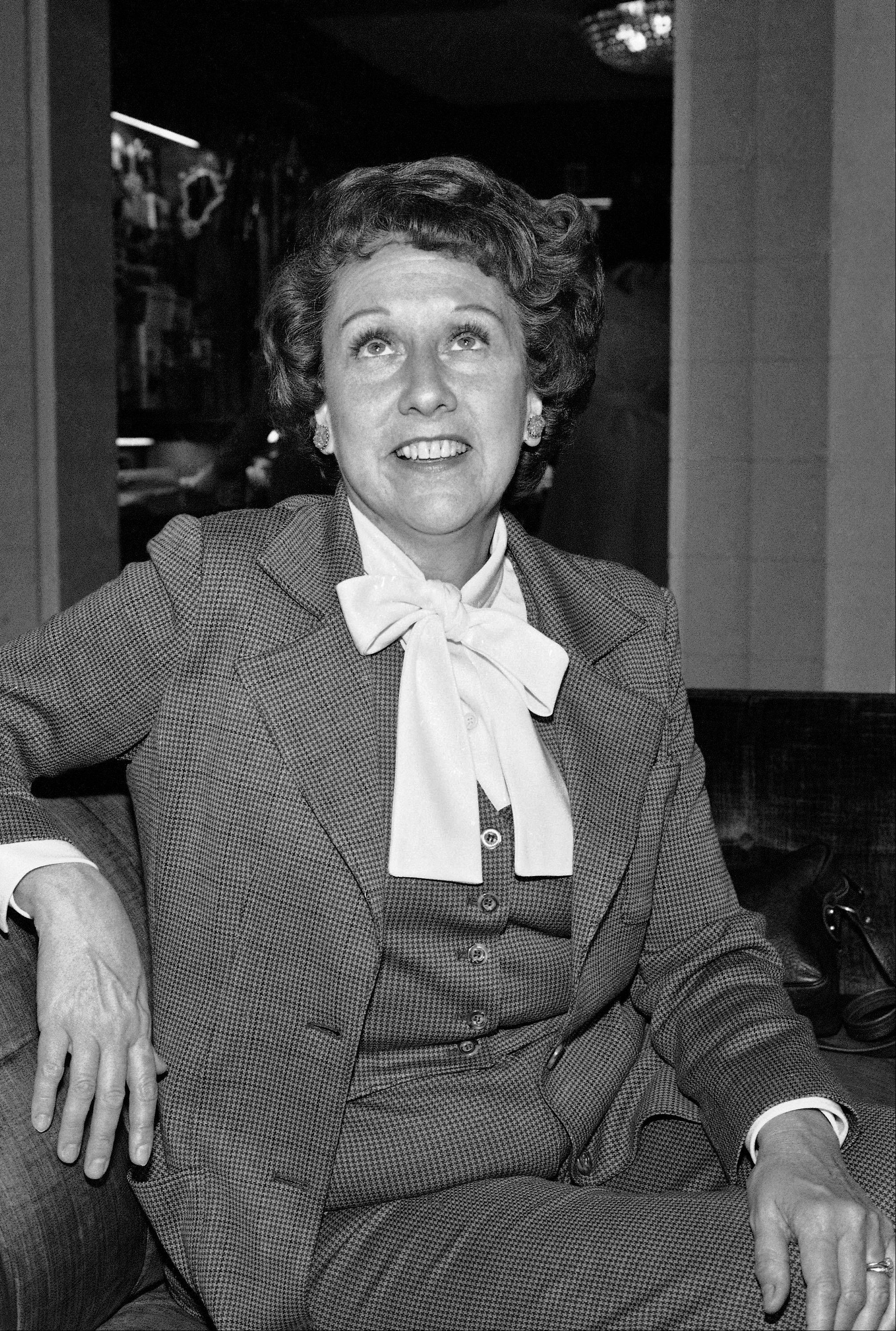 "Actress Jean Stapleton speaks during an interview in Washington on Wednesday, March 3, 1977, saying she will increase speaking out to the ""Edith Bunkers"" of the land to try and muster support for the Equal Rights Amendment. Stapleton, who played Edith Bunker in the groundbreaking 1970s TV comedy ""All in the Family,"" has died. She was 90. John Putch said Saturday, June 1, 2013 that his mother died Friday, May 31, 2013 of natural causes at her New York City home surrounded by friends and family."