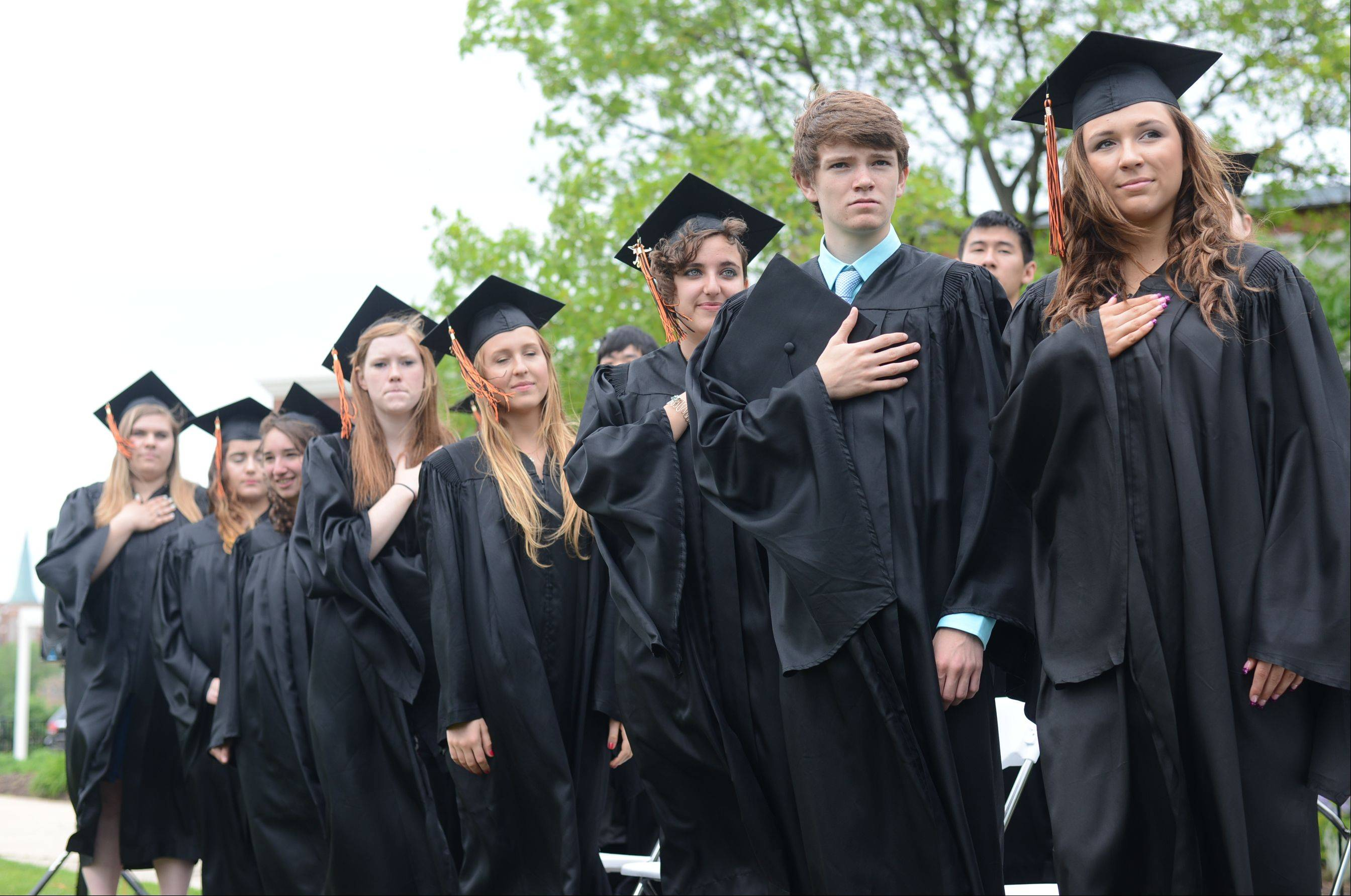 Images from the Elgin Academy graduation ceremony Saturday, June 1, 2013 in Elgin.