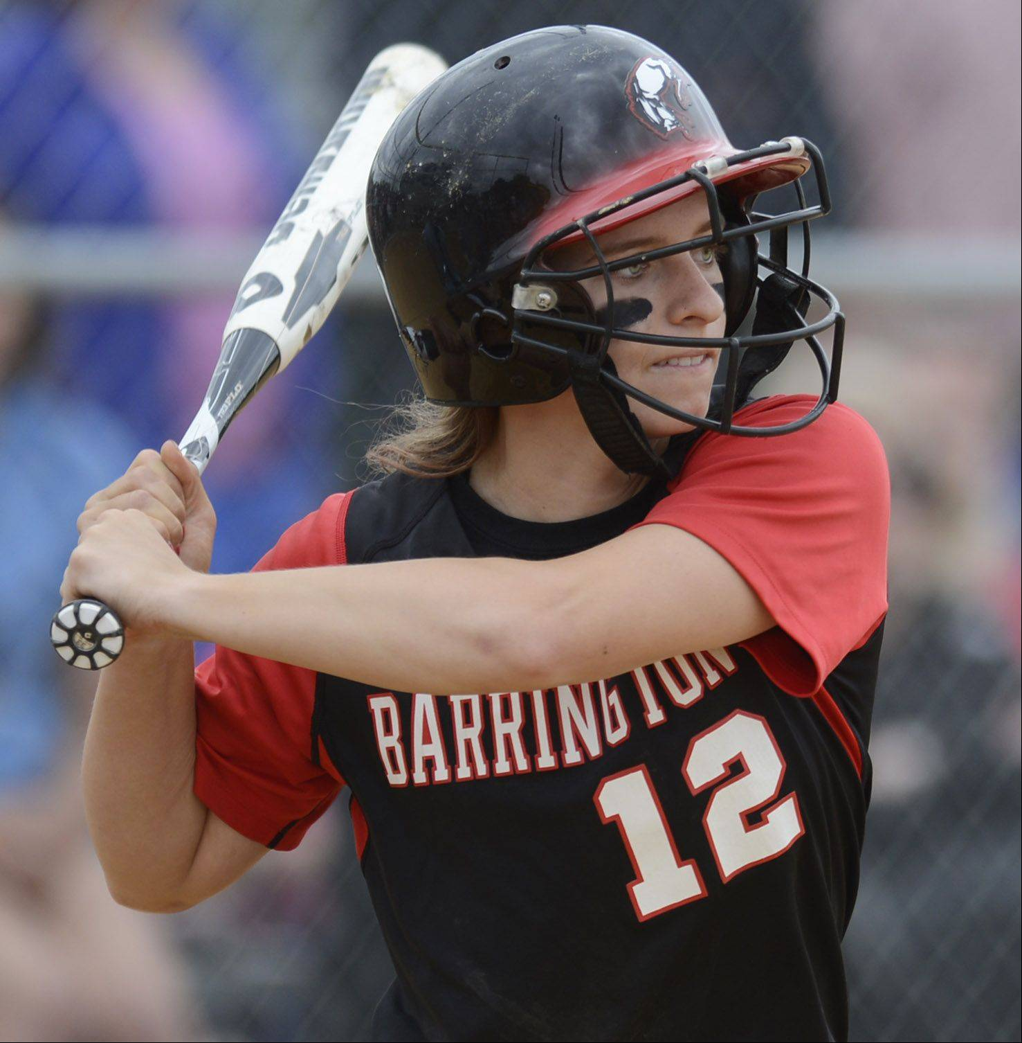 Barrington's Loren Krzysko bats during the Rolling Meadows sectional final Saturday.