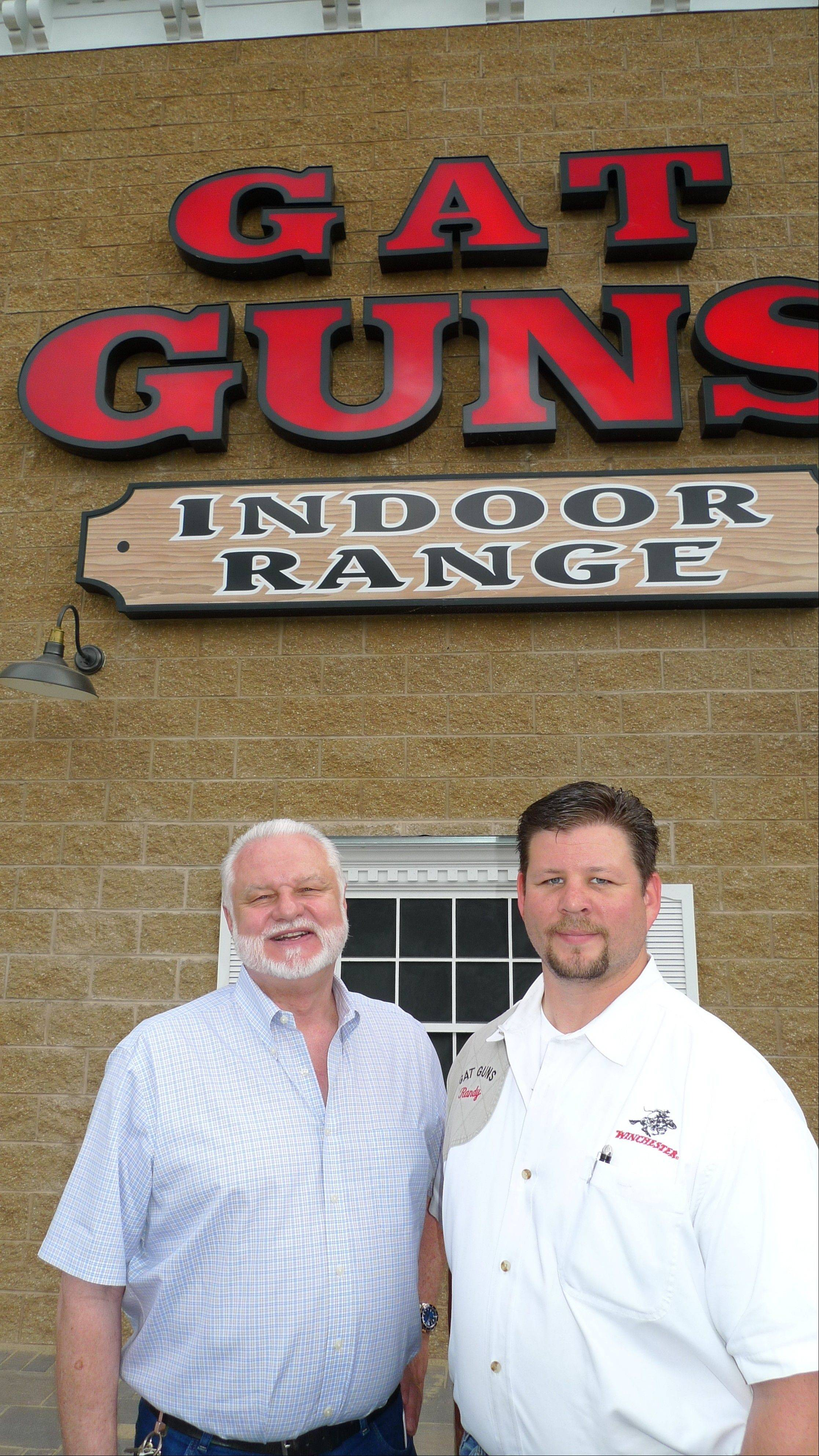 GAT Guns owner Greg Tropino, left, and employee Randy Potter are preparing for a grand reopening of their store to accommodate Illinoisans wanting to take advantage of the state�s new conceal-and-carry law, which still needs the governor�s signature to take effect.