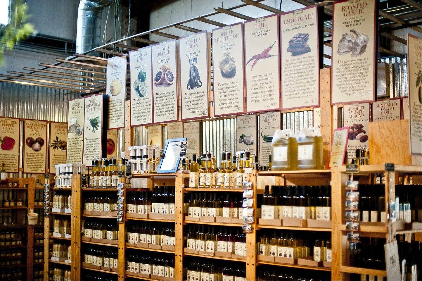 At Queen Creek Olive Mill in Mesa, Ariz., you can get a tour of the olive grove and free tasting of the oils produced at the mill.