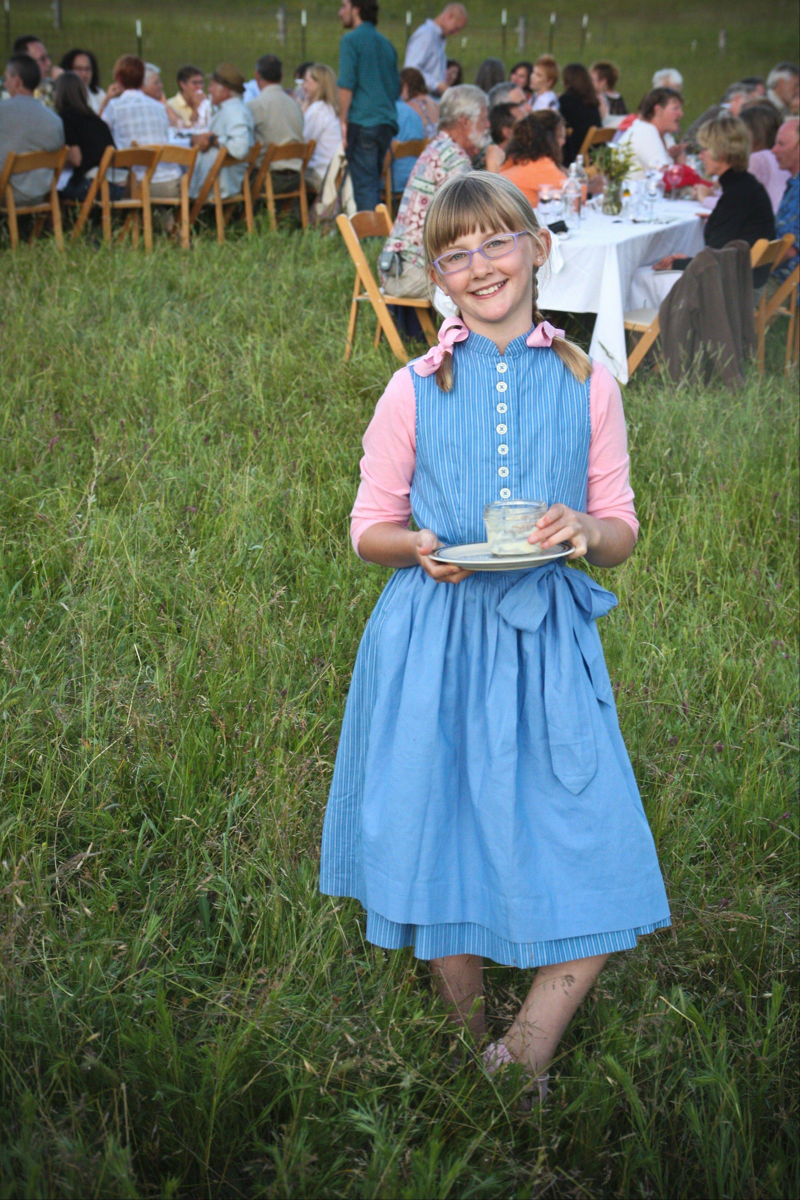 "The third generation, Ella, helps out at a ""Farm to Fork"" dinner at Willow Witt Ranch in Oregon."