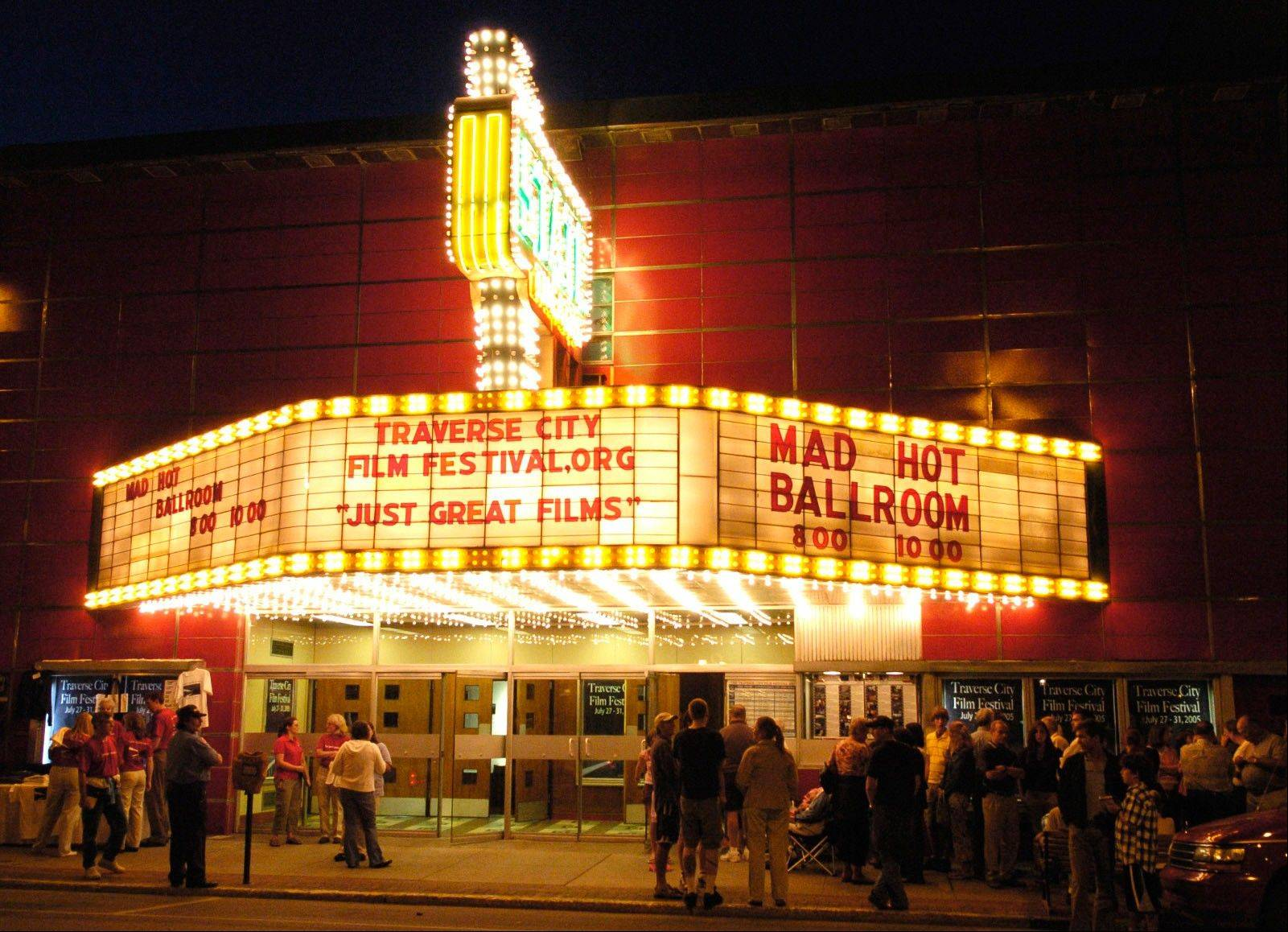 The inaugural Traverse City Film Festival is held in the renovated State Theatre in downtown Traverse City, Mich. The Traverse City Film Festival, co-founded by filmmaker and Michigan native Michael Moore, runs from July 30 to Aug. 4.