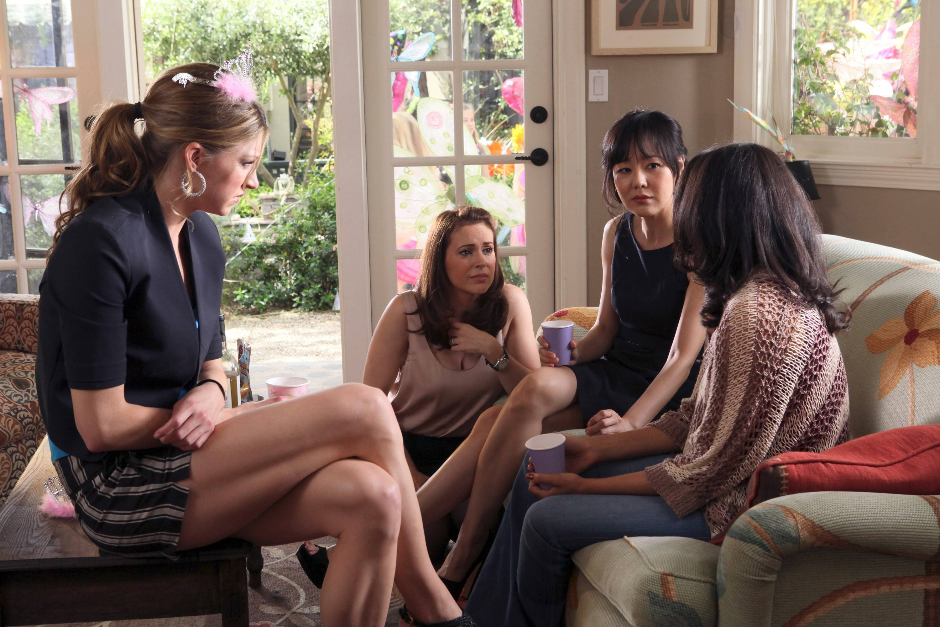 """Mistresses,"" a new prime-time drama featuring Jes Macallan, Alyssa Milano, Yunjin Kim and Rochelle Aytes, premieres Monday on ABC."