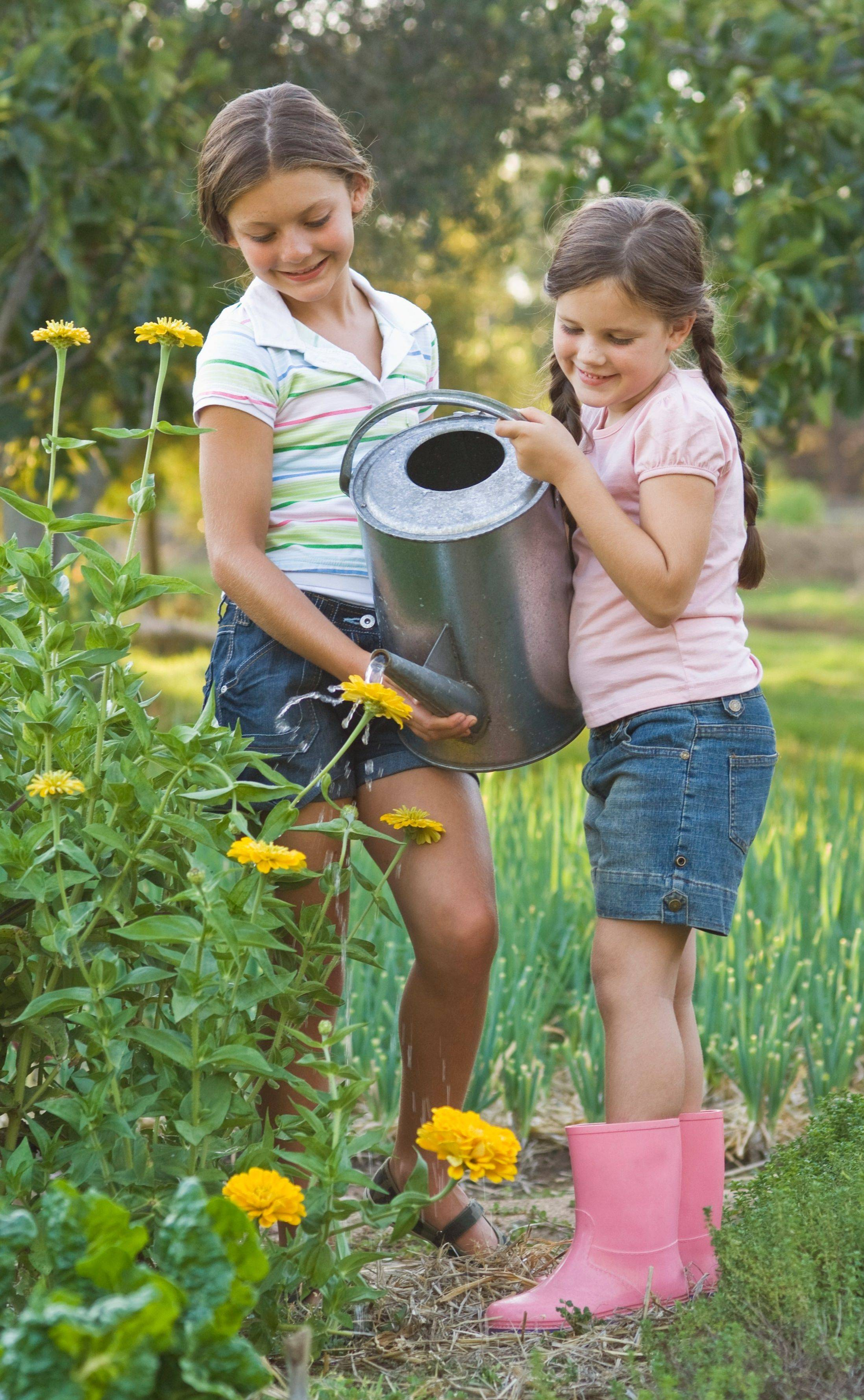 Growing flowers and vegetables with children can teach them valuable life lessons and can help them connect with nature.