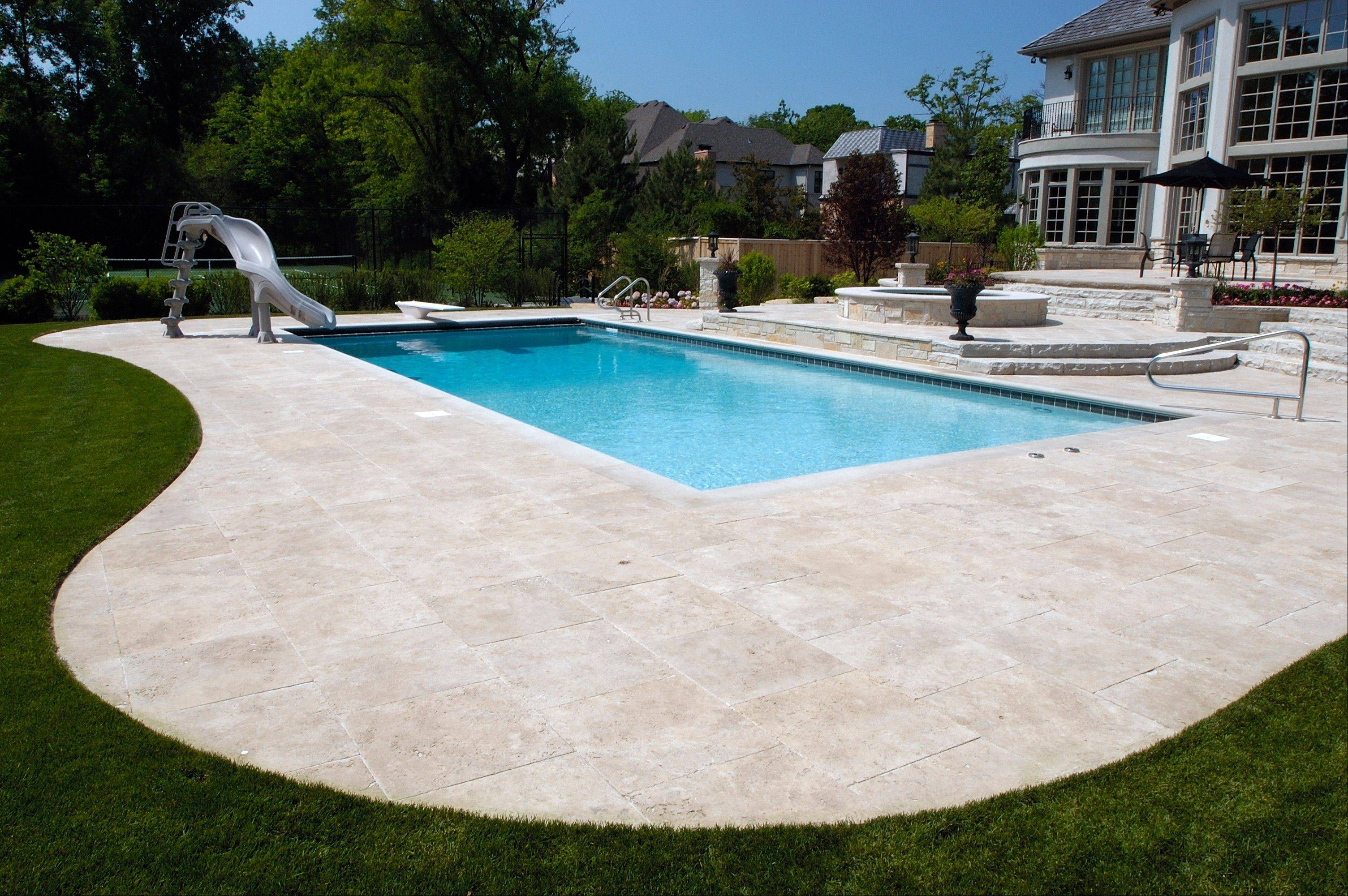 Inground pools are still considered a luxury item in this climate where they can be used for only about four months of the year.