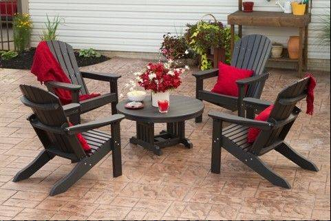 A Berlin Gardens adirondack seating area with four or six chairs around a table would cost $3,000 to $5,000.