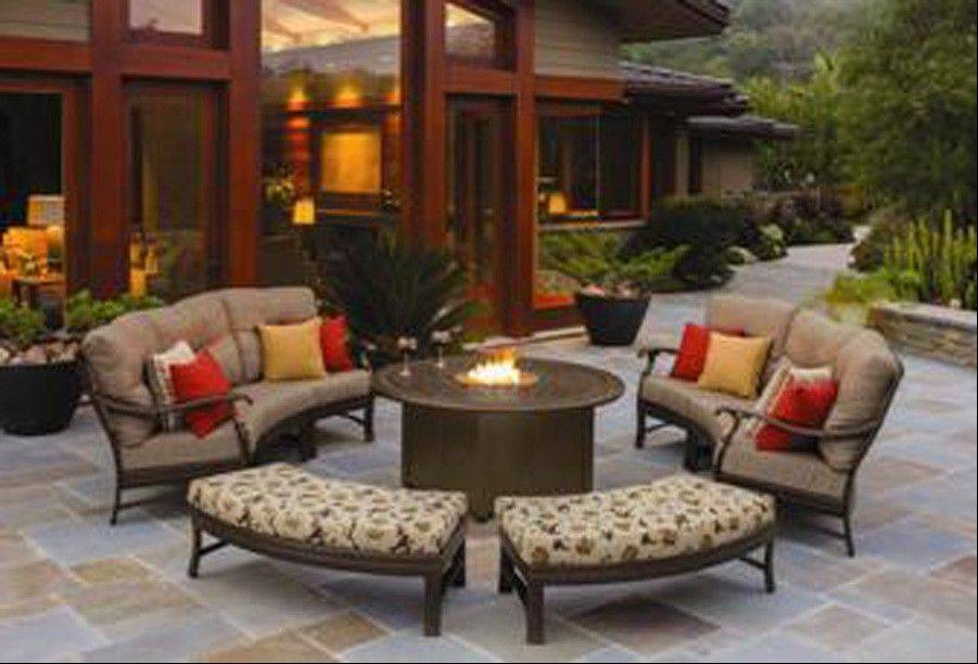 Tropitone Ravello deep seating with fire pit would cost around $6,500.